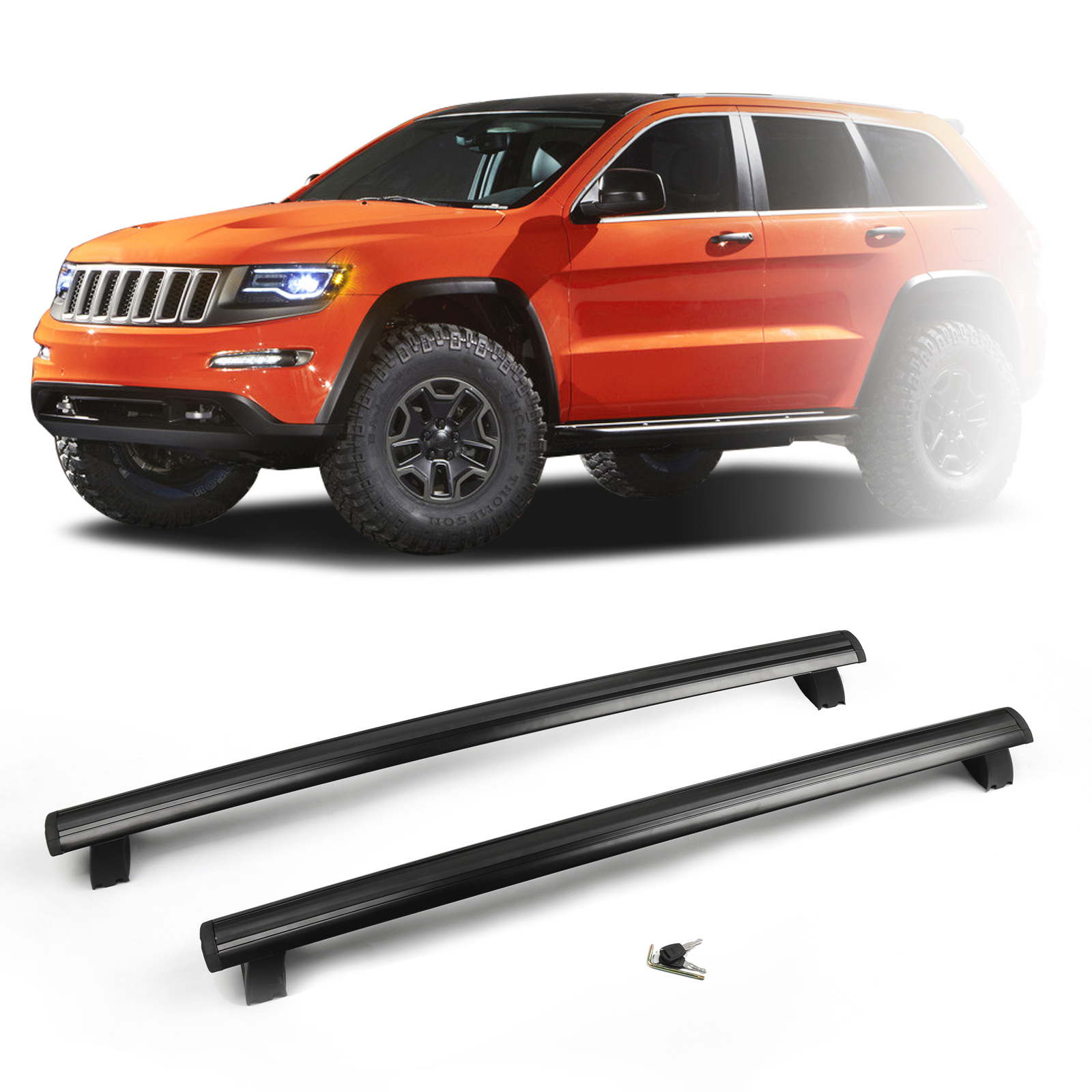 for 2011 2016 jeep grand cherokee roof rack cross rails bars luggage. Cars Review. Best American Auto & Cars Review