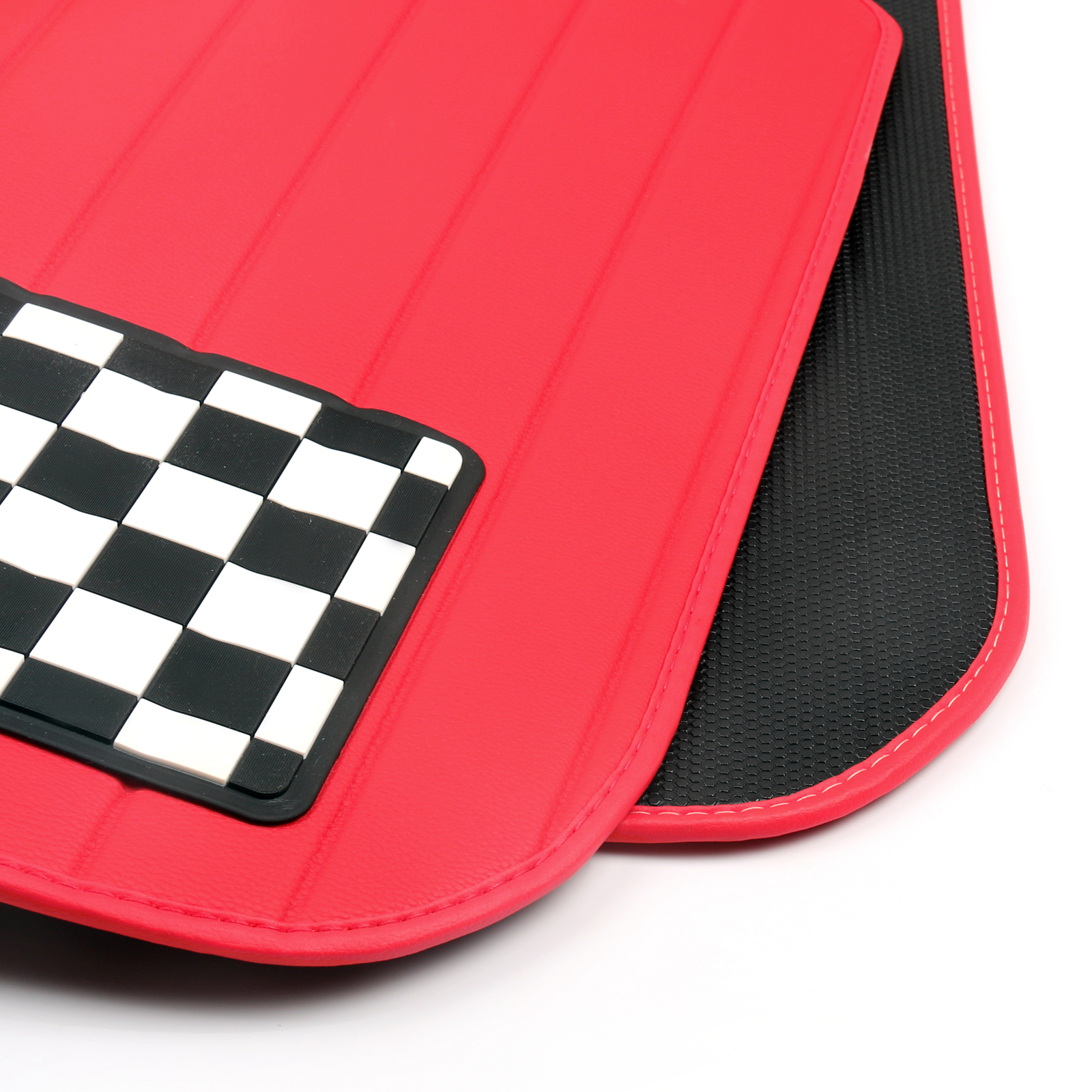 Checkered Mat: Checkered Union Jack Cargo Liner Trunk Mat For Mini Cooper