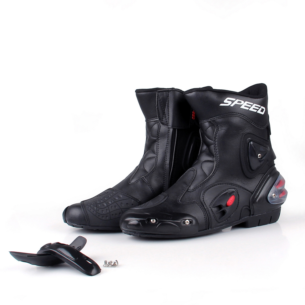 motorcycle leather boots shoes waterproof sportbike