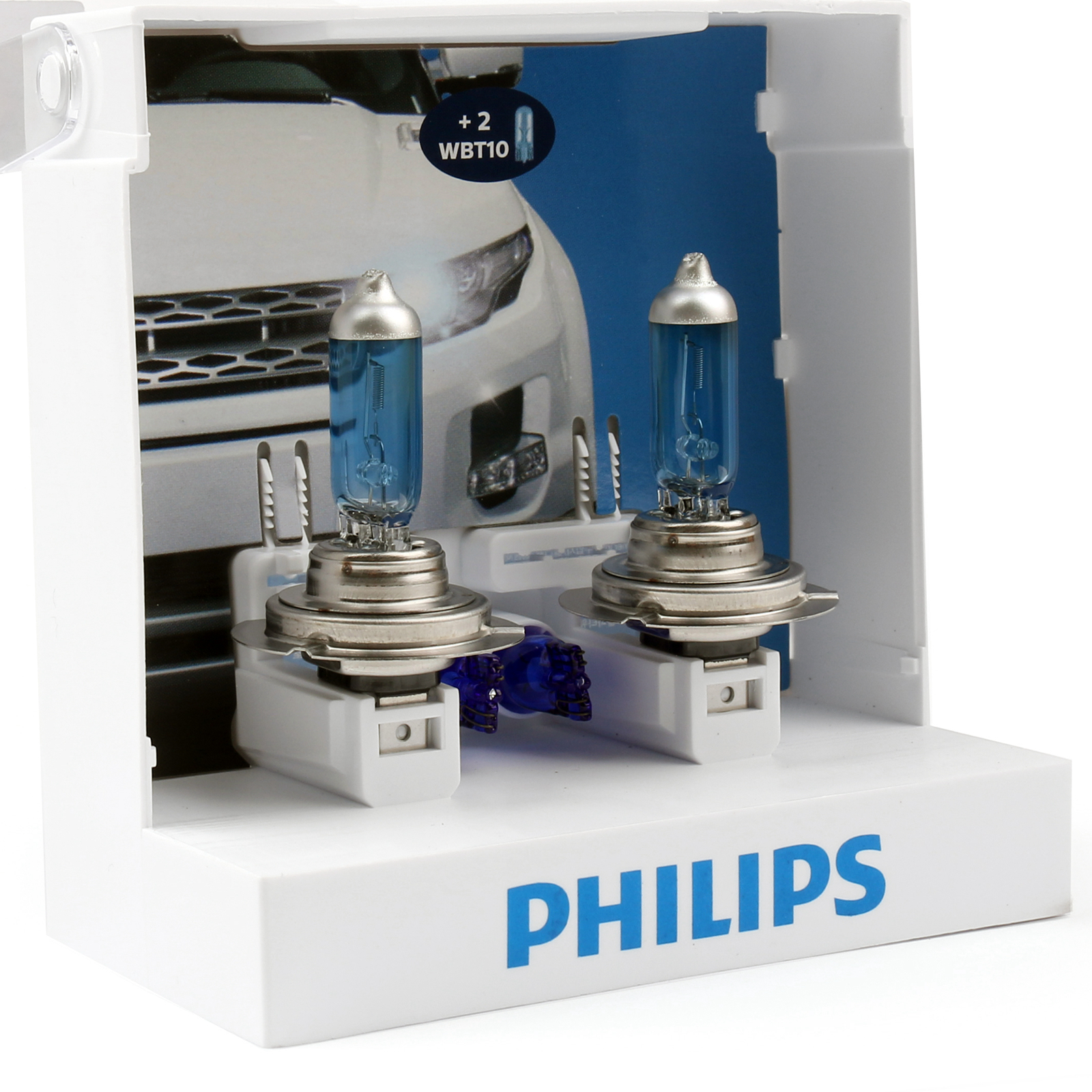 2xGenuine Philip H7 Crystal Vision 4300K Bright Blanc Ampoules 12V 55W Lampe New