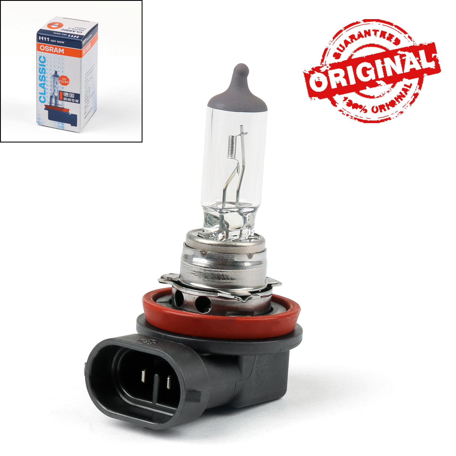 Headlight Bulb 64211 Osram H11 Genuine Top Quality Replacement New