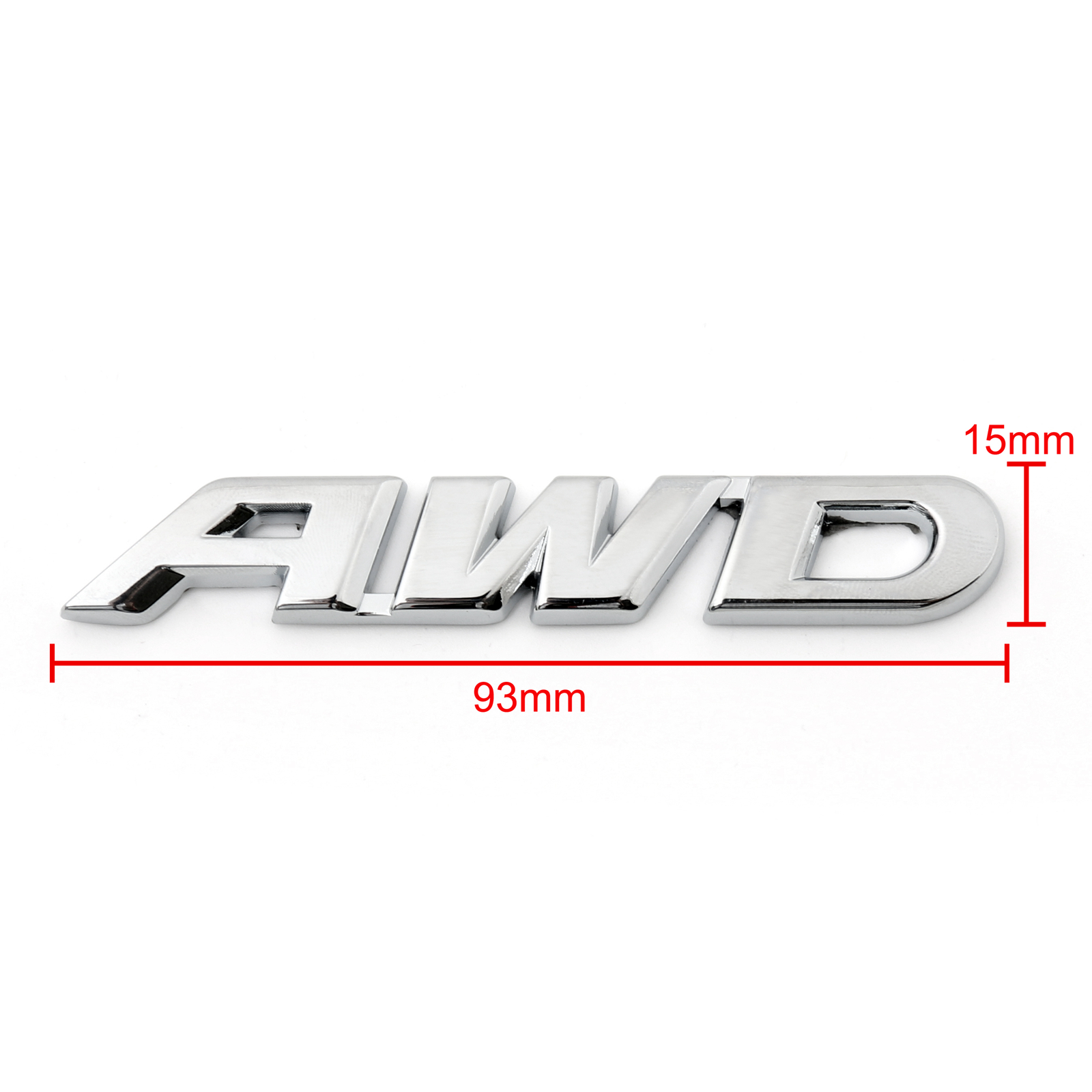 Car AWD 3D Logo Trunk Tailgate Side Wing Emblem Badge Sticker Emblem 4x4 All Wheel Drive SUV Off Road 2PCS