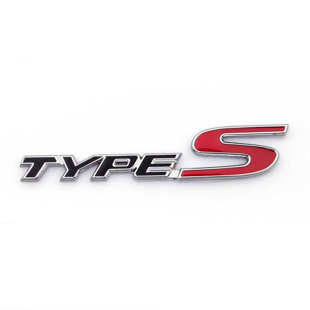 3D Car Emblem Badge Sticker Decal Metal Type S Black For