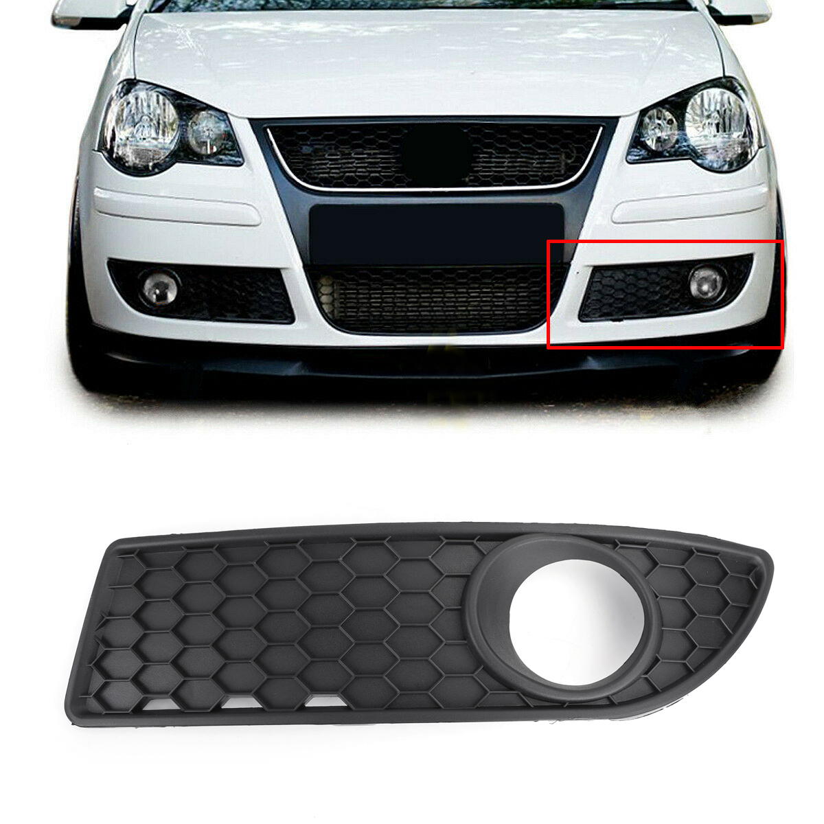Honeycomb Style Front Lower Grille Left Side For Vw Polo 9n3 Gti 2005 2009 Ebay