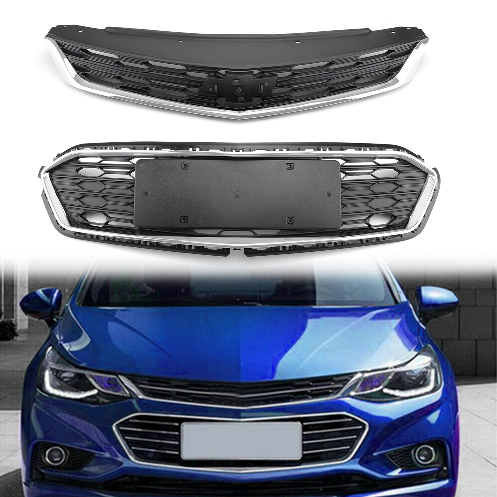 Front Bumper Upper Grille Assembly 62310-3YU0A For Nissan Sentra 16-18 PY