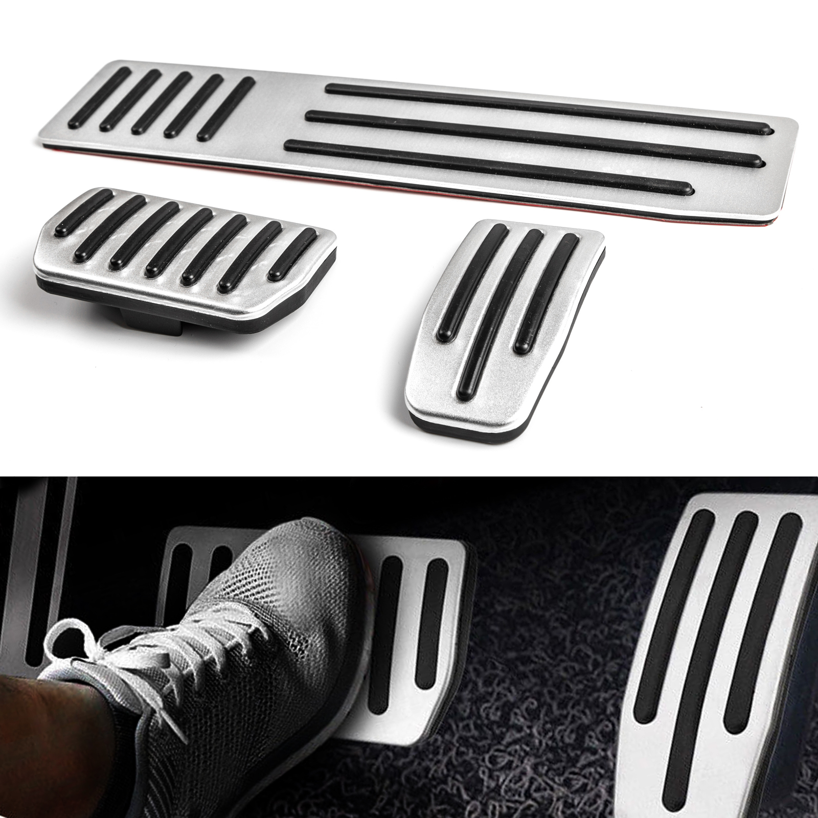 Aluminum Aotomatic AT Pedal Pad Brake Gas Foot Rest Fit For Honda Odyssey UE
