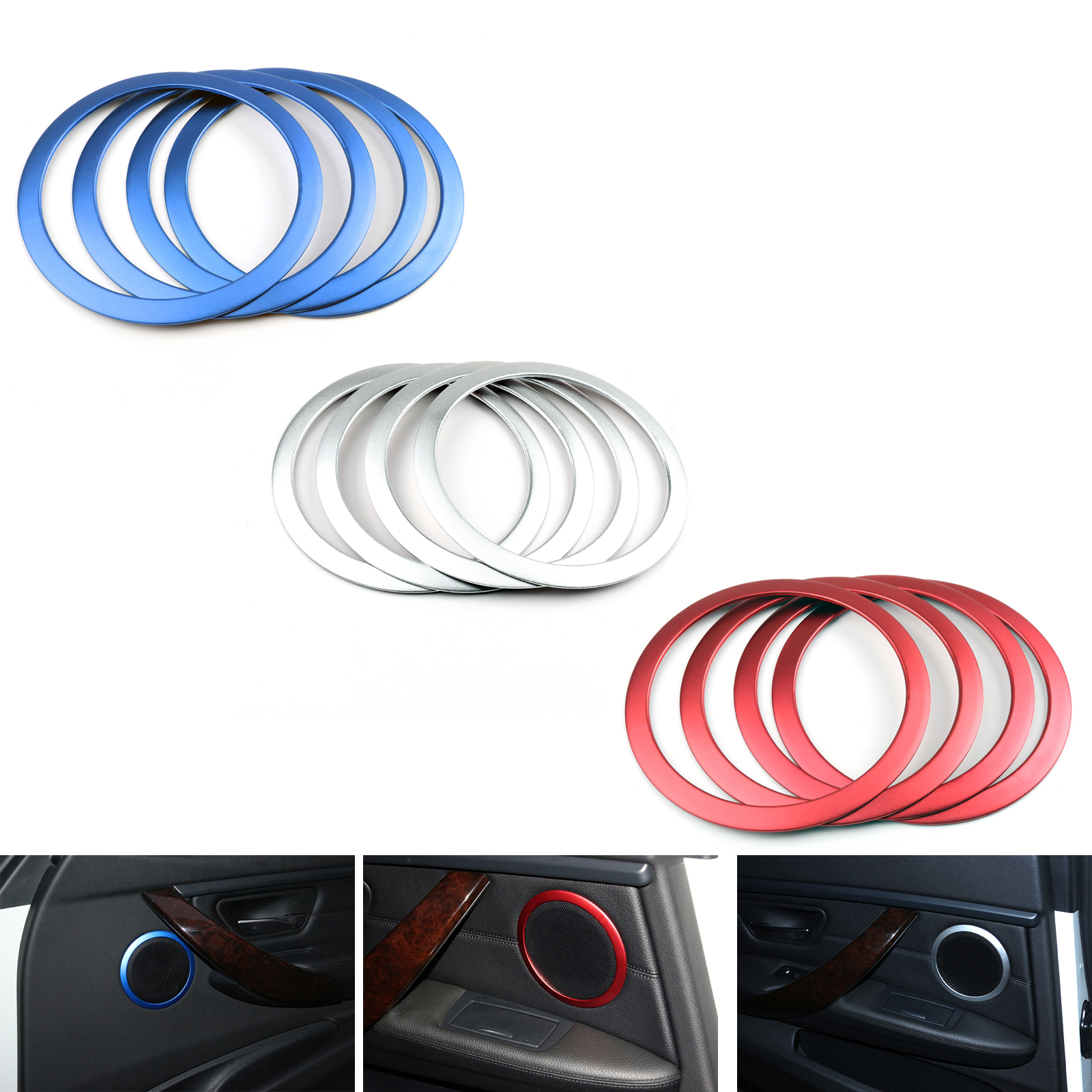 Material: Made of high quality metal with color Finished. Not a Plastic! Item included: 4 pieces/1 set. Compatible: 2012-Present F30 3 Series 4D Sedan ...