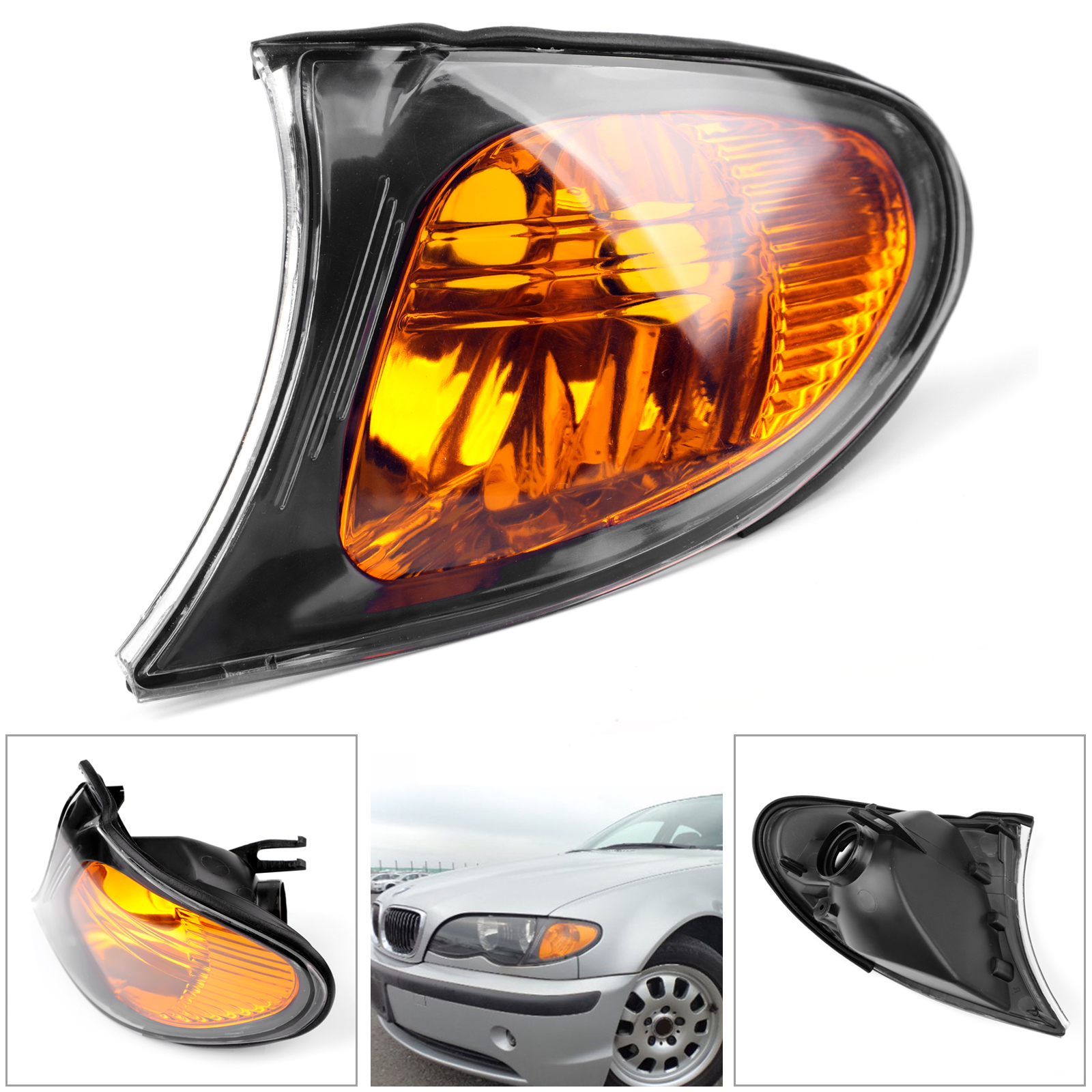 For BMW BMW E46 4DR 02-05  Left/&Right Side Repeater Marker Turn Signal Light