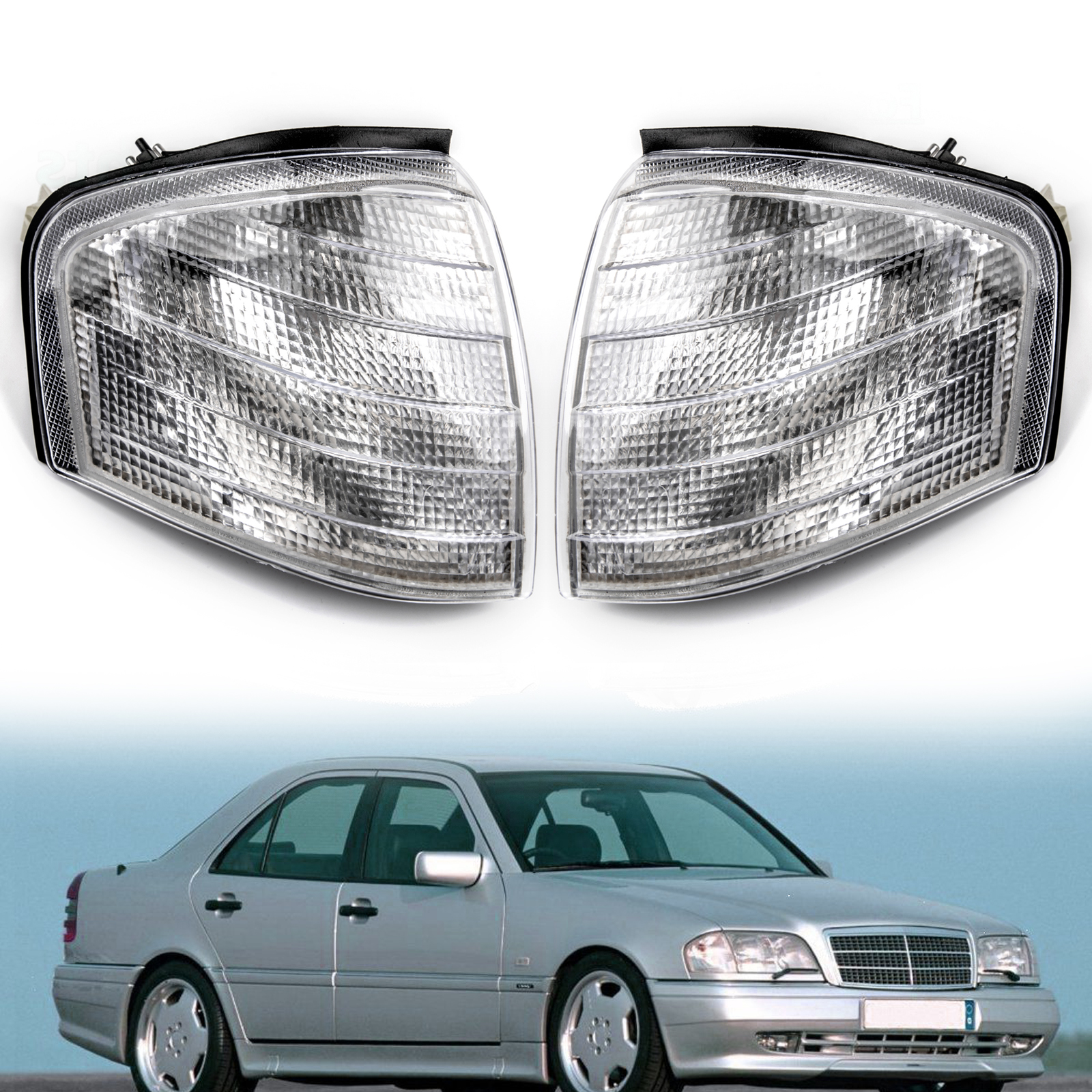 2PCS Side Mirror LED Turn Signal Light For 99-2003 Benz S W220 CL W215 Amber USA