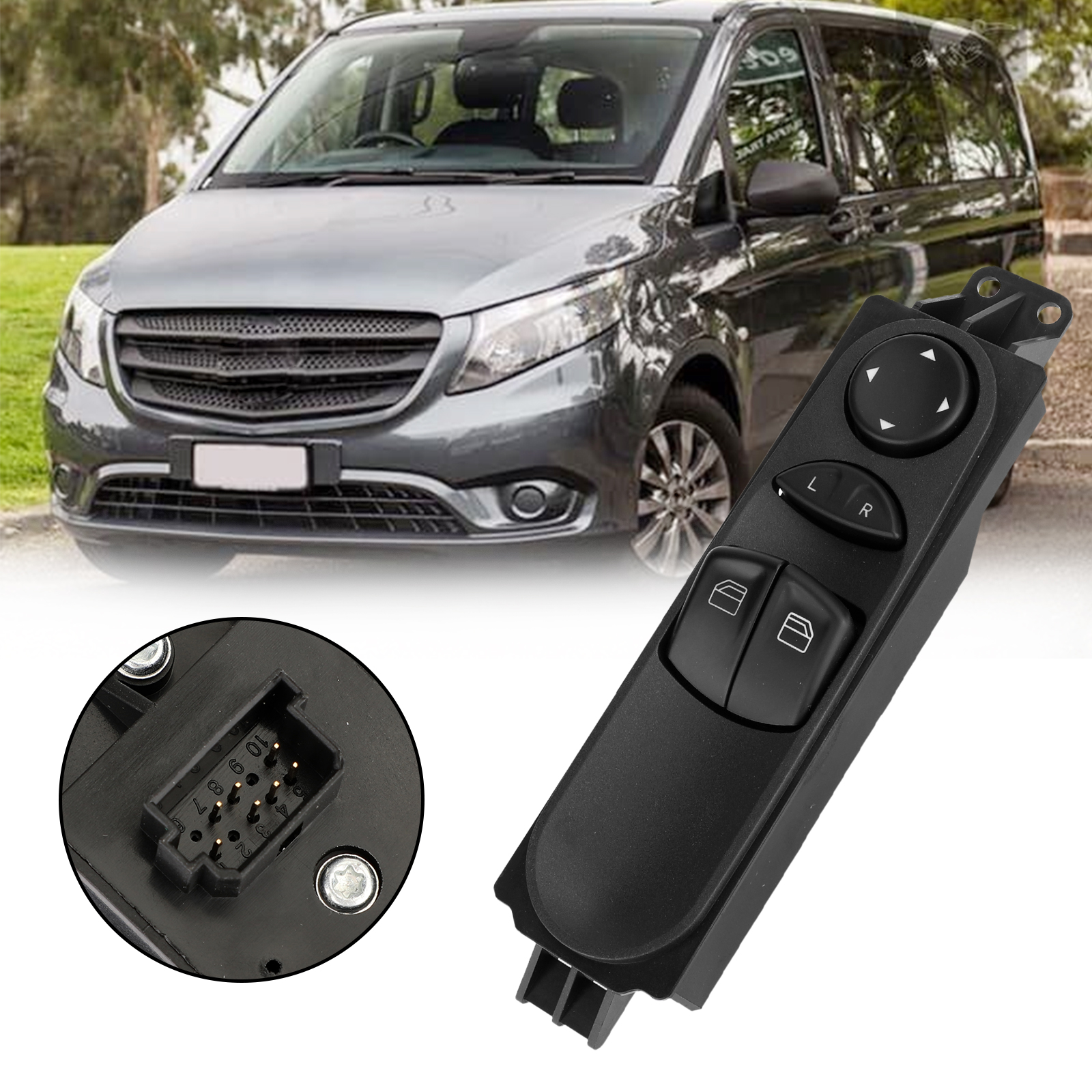 Front Power Master Control Window Switch for Benz W639 Vito 2003-15 A6395450913