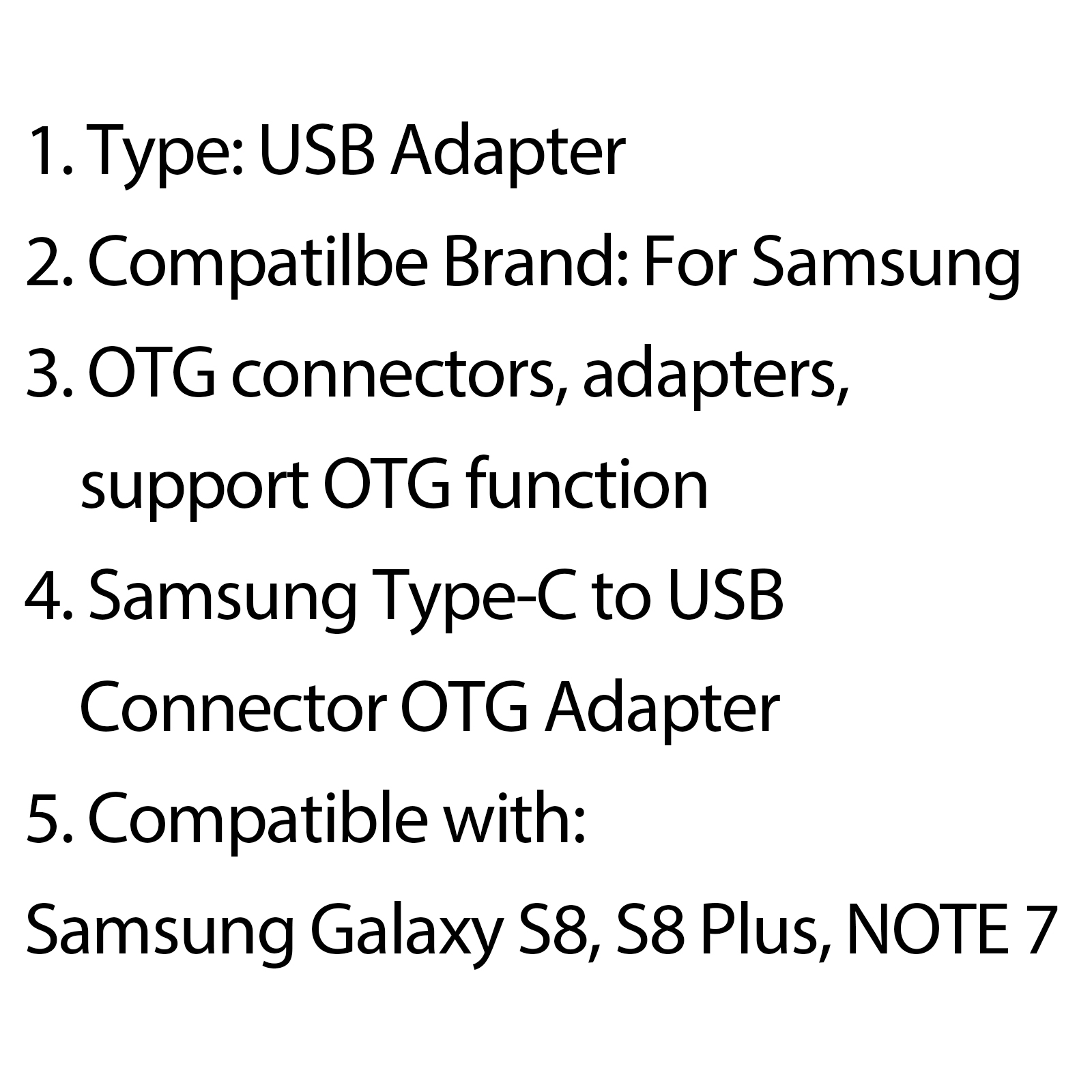 Usb Type C Connector Otg Adapter Data Transfer For Samsung