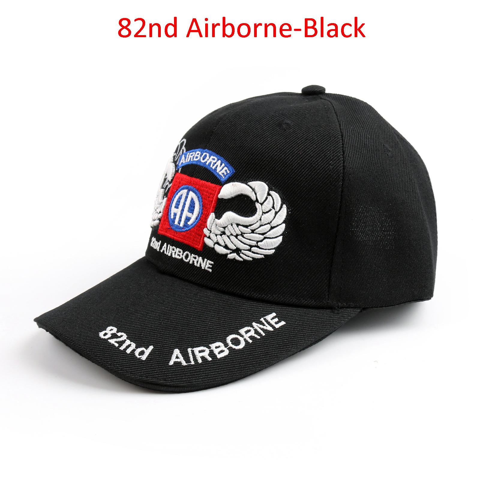 Details about United States Army 82nd Airborne Cap Silver Jump Wings Hat  Tactics Ball Hat US 954de3b225f