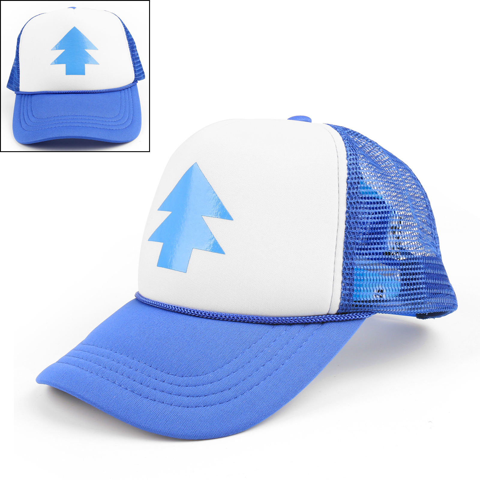 Details about Dipper Hat Bill Blue Pine Tree Cap Gravity Falls Cartoon  Curved Cap Trucker Hat 3efea6aec30
