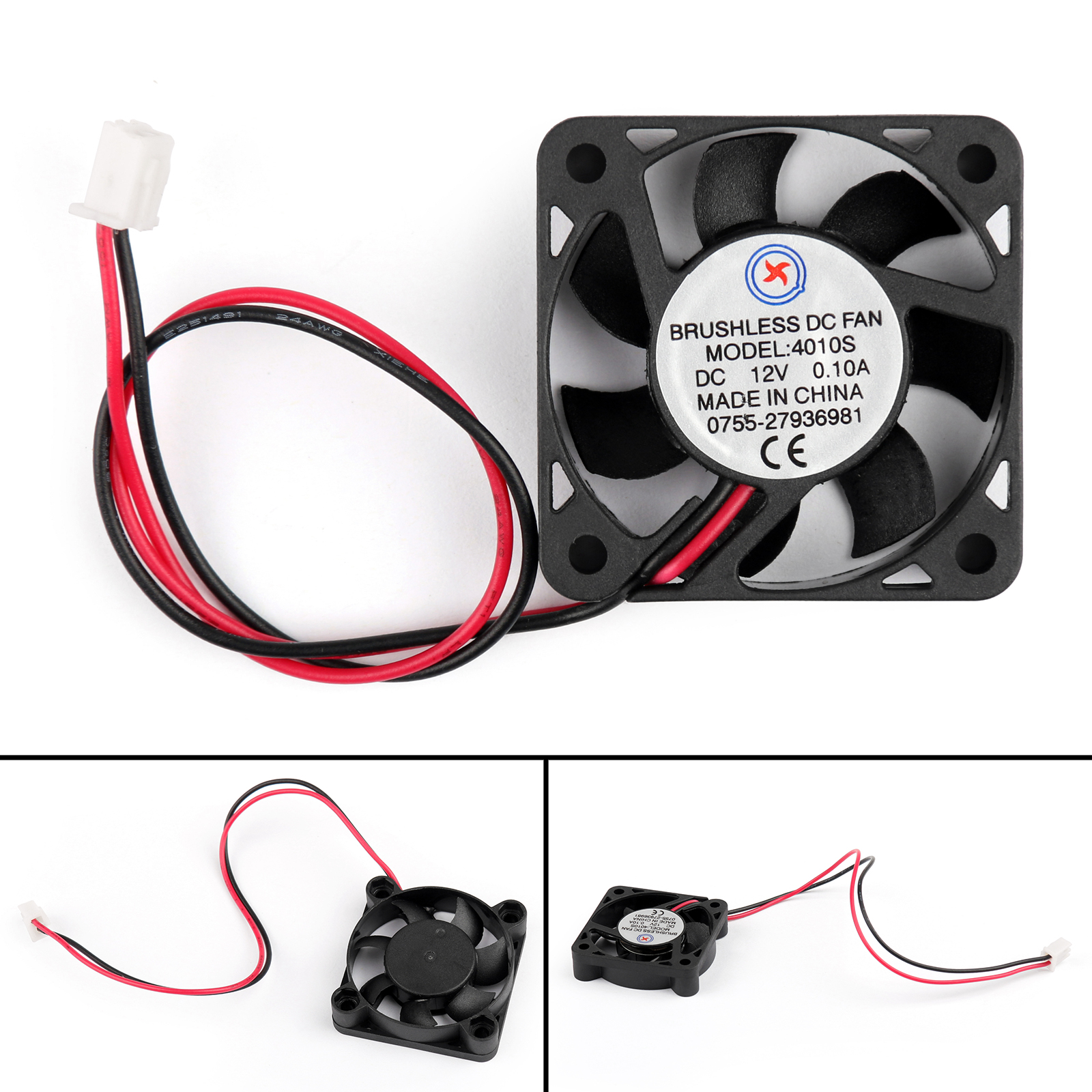 Dc Brushless Cooling Pc Computer Fan 12v 24v 4010s 40x40x10mm 01a Electric Motor Repair Bearings Shape Same As The Picture Show 1 Type 2 Size Lxwxh 3 Volume 4 Bearing Sleeve 5 Operation Voltage