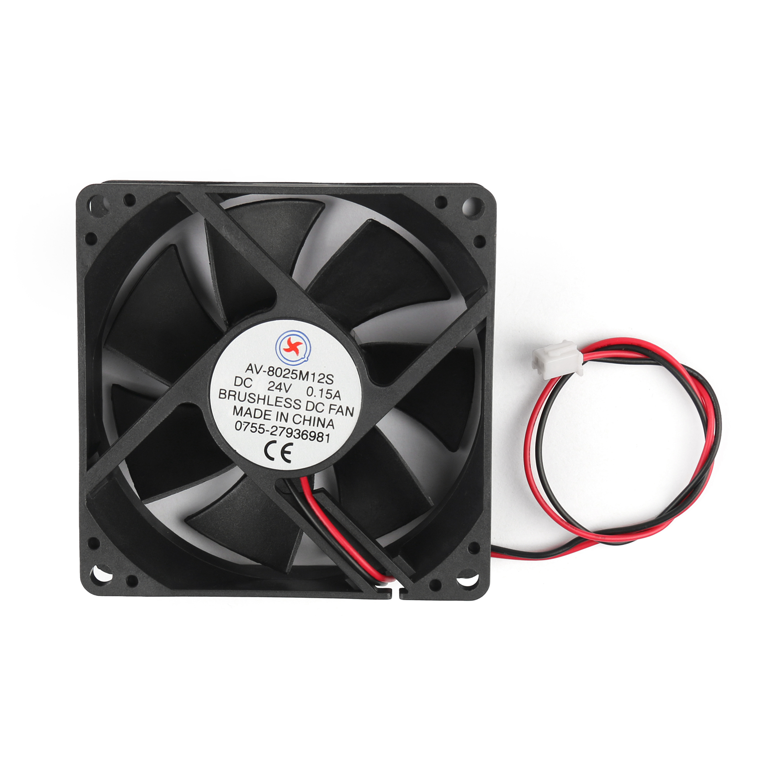 DC Brushless Cooling PC Computer Fan 12V 24V 8025s 80x80x25mm 0.2A 2 ...