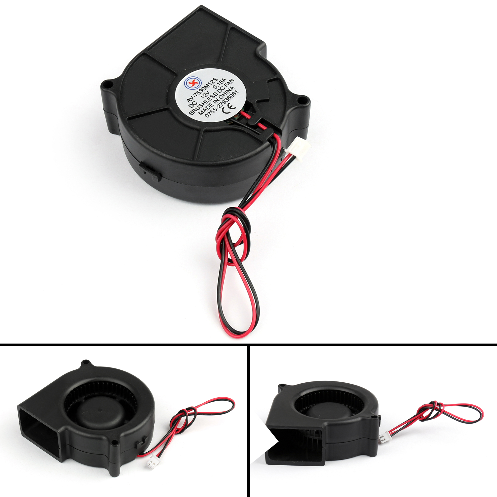 Brushless DC Cooling Blower Fan 5V 6015S 60x60x15mm 0.2A Sleeve 2 Pin Wire USA