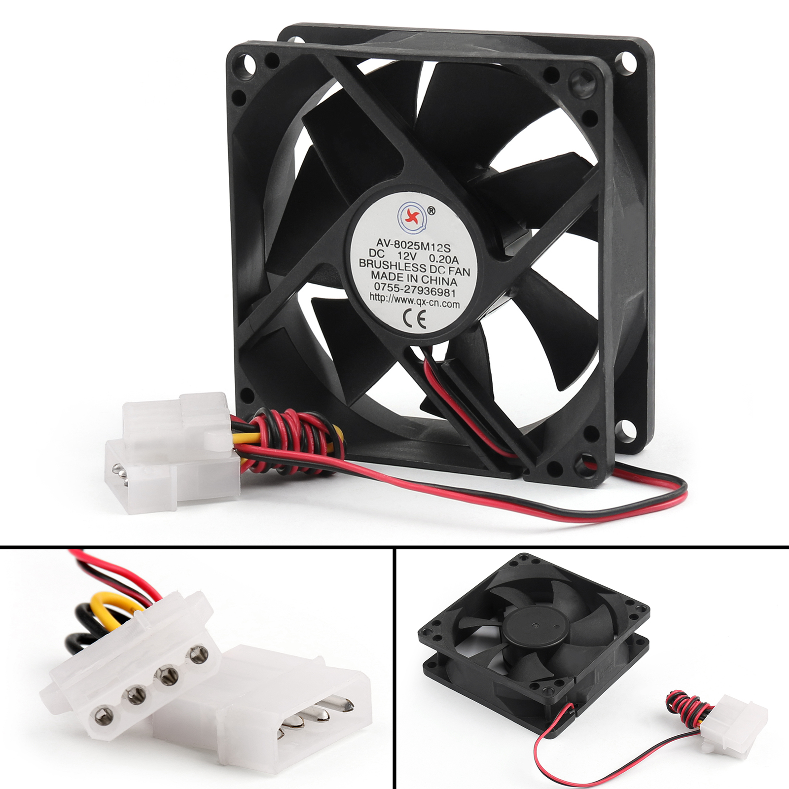 12V DC Brushless Cooling PC Computer Fan 9733s 97x97x33mm 0.5A 2 Pin Wire US