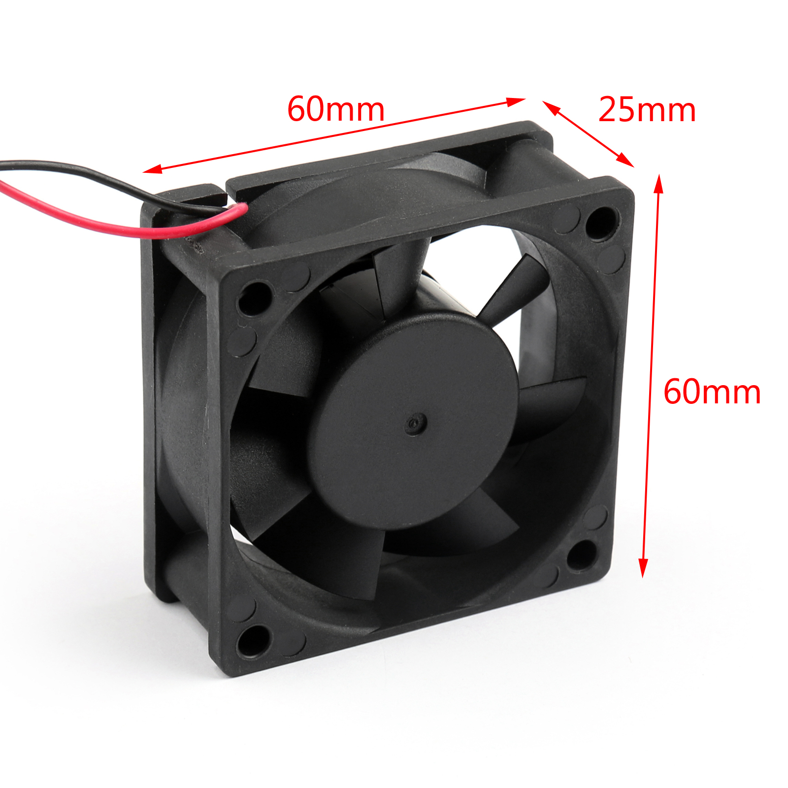 DC Brushless Cooling Fan 12V 0.15A 6025s 60x60x25mm 2 Pin CUP ...
