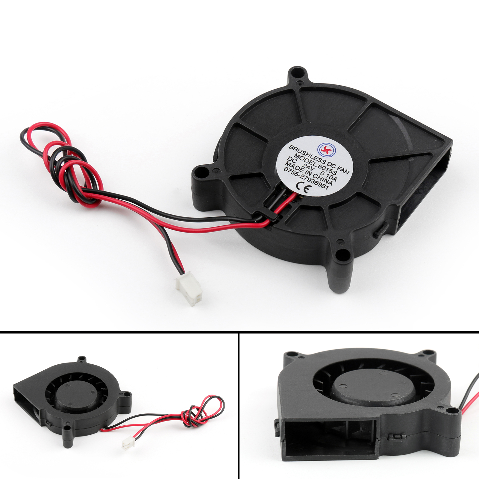 Brushless DC Cooling Blower Fan 24V 4020S 40x40x20mm 0.13A Sleeve 2 Pin Wire T2
