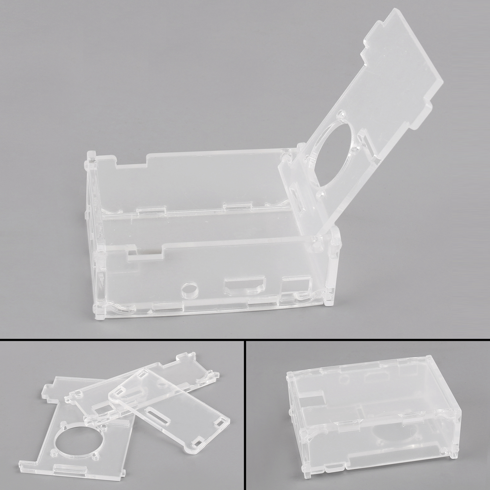 For Raspberry Pi 2 Pi 3 and Model B Transparent Clear Case Box with Cooling Fan