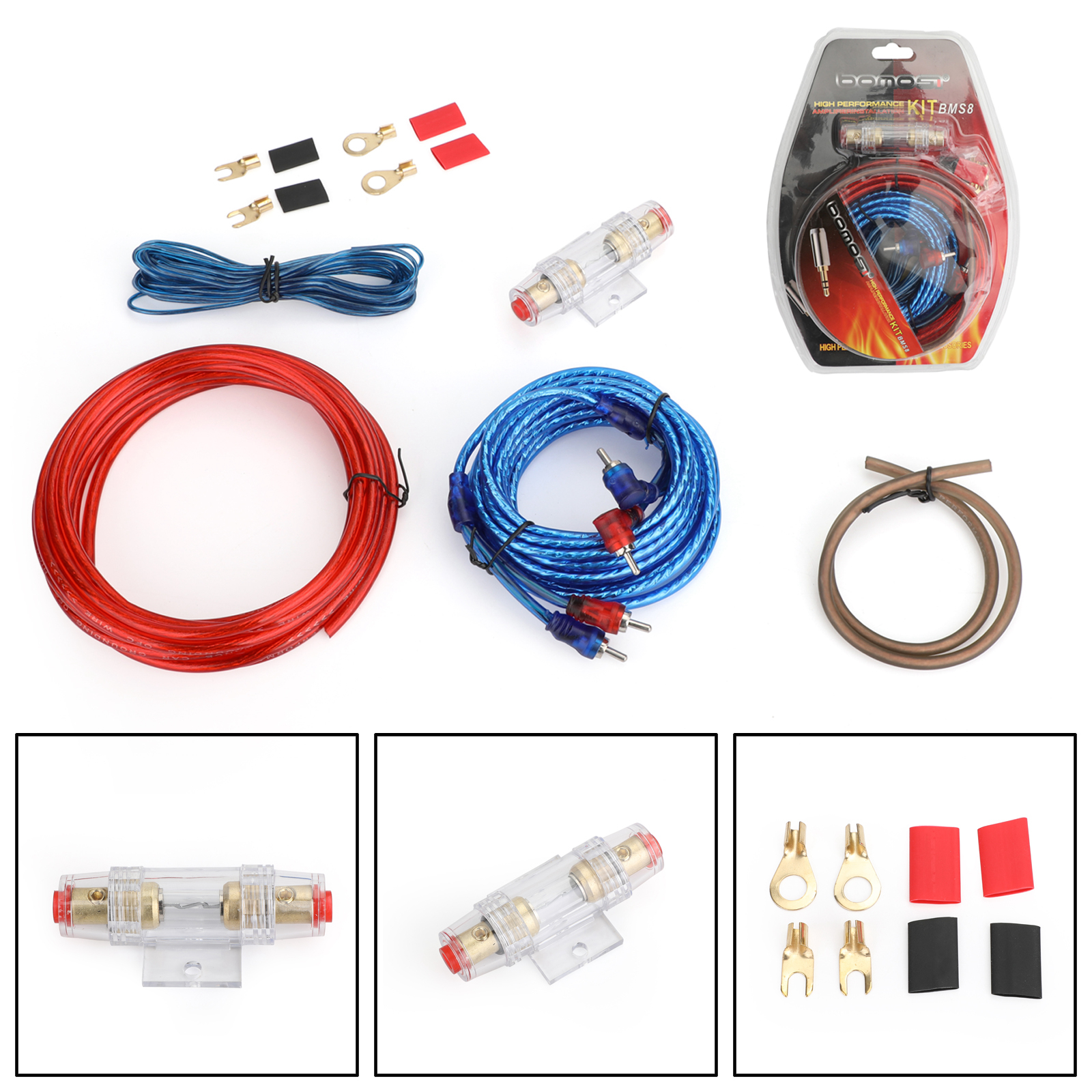 Details about 10 GAUGE 1500W Cable Car Amplifier Kit Amp Audio RCA on cd player wiring kit, cable wiring kit, car wiring kit, subwoofer connectors, speaker wiring kit, subwoofer grill, tv wiring kit, subwoofer capacitor, subwoofer plug, sub wiring kit, subwoofer enclosures, daytime running lights wiring kit, subwoofer speakers, subwoofer box, stereo wiring kit, audio wiring kit, subwoofer amplifier, subwoofer cover, amplifier wiring kit, subwoofer fuse,