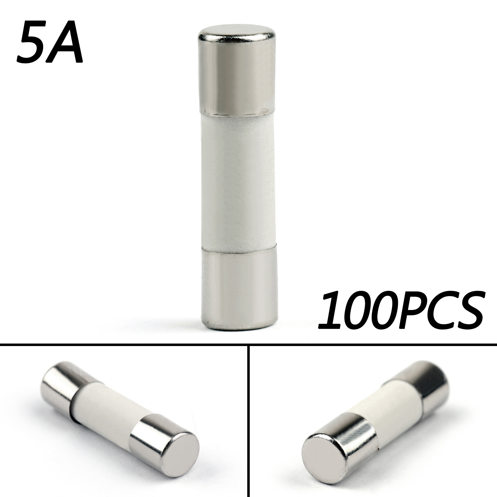 5 Pcs AGC Fuse Holder Inline Screw Shape Cable Fuse Holder AWG Wire 6.3A