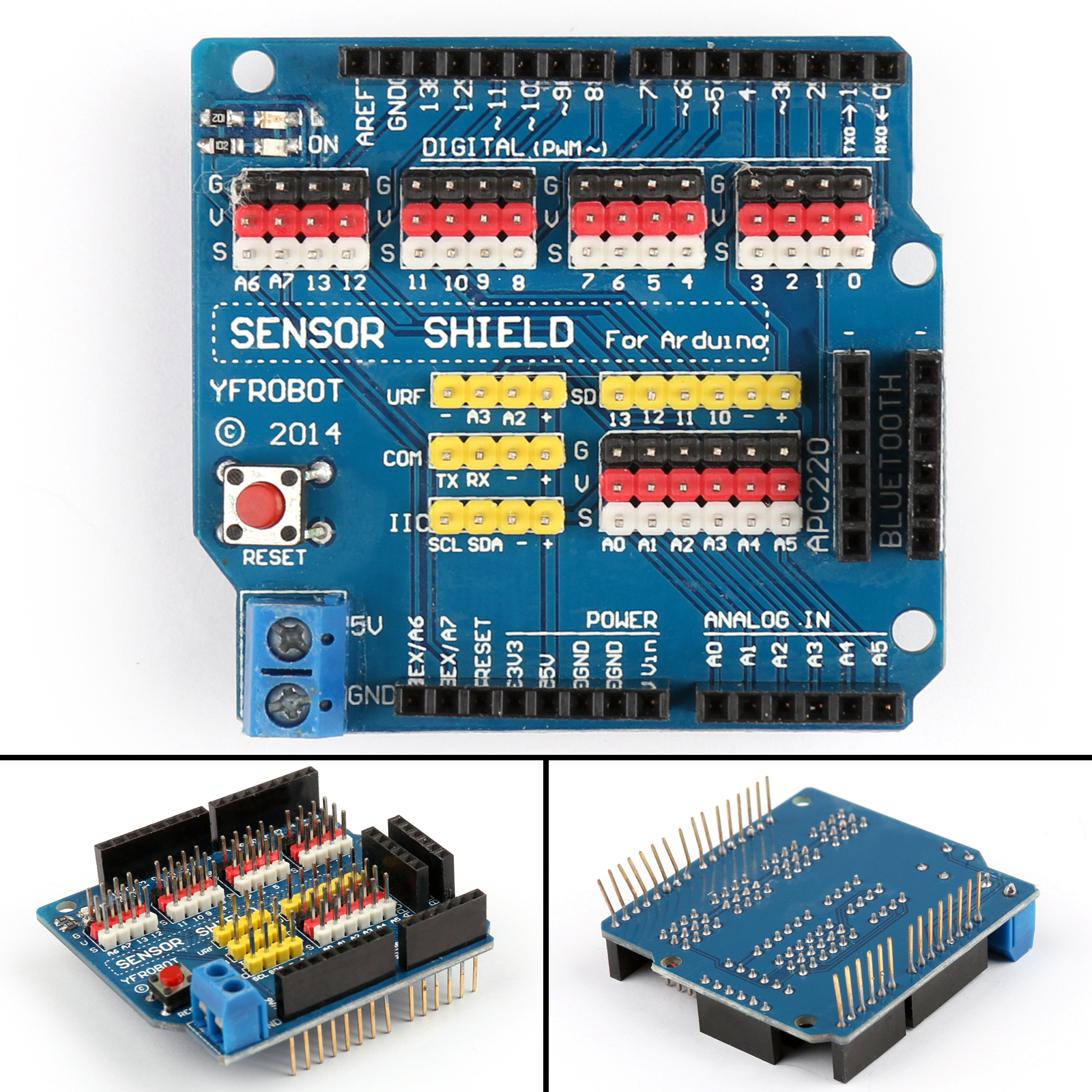 Sensor shield expansion board for arduino uno r v