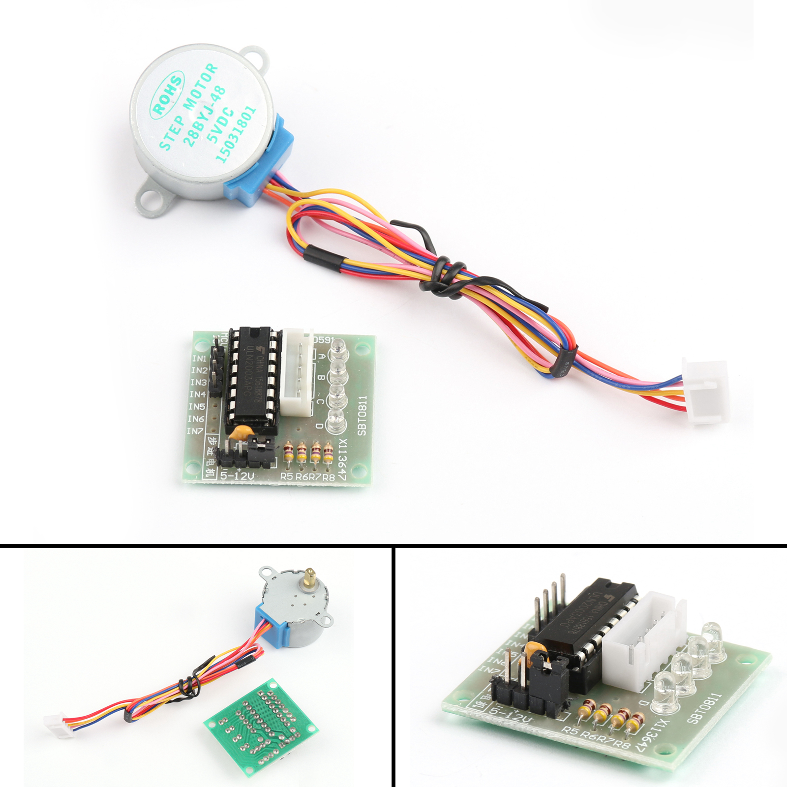 Dc 5v Stepper Motor Uln2003 Driver Test Module Board 28byj 48 For 12v Power Pigtail Male 21mm Cable Plug Wire Connector Ebay Picture
