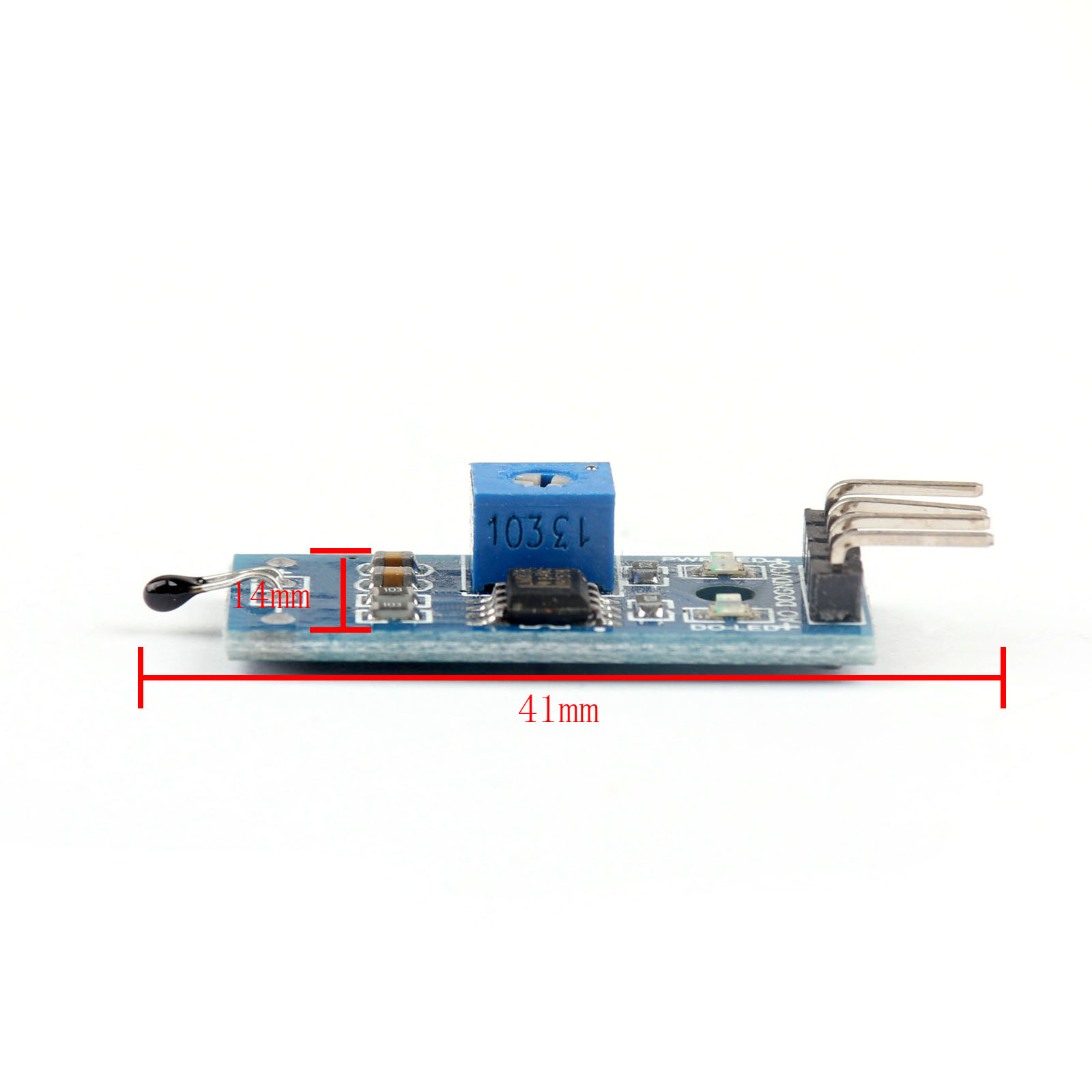 Dc 3 5v Lm393 Chip Thermistor Sensor Module Resistance For Mcu Robot Circuit Battery Charger Picture Of Good Electronic Product Name Thermal Pin Number 4 Working Voltage Main Temperature Probe