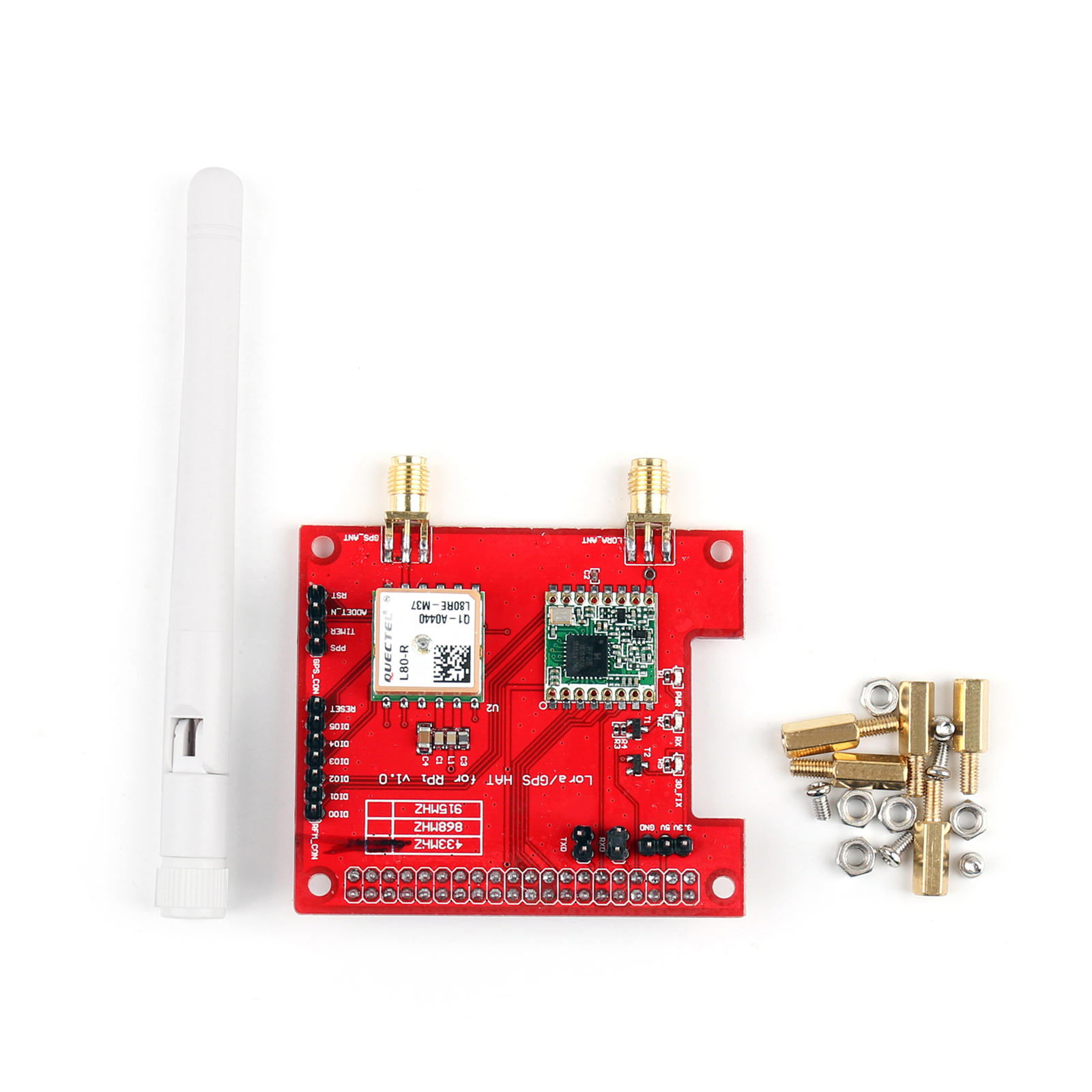 Details about Long Distance Wireless 433/868/915 Mhz Lora/GPS Expansion  Board For Raspberry Pi
