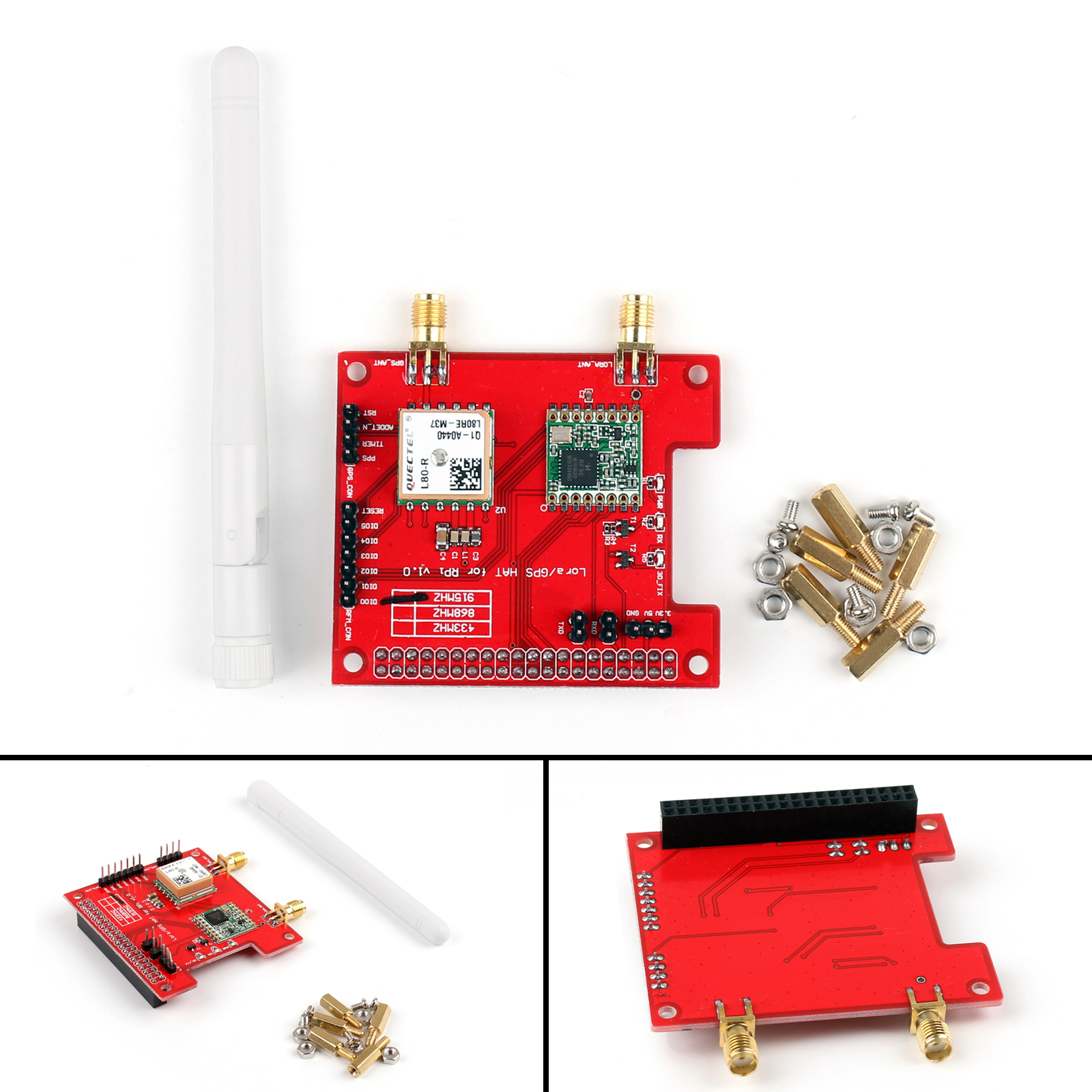Details about Long Distance Wireless 433/868/915 Mhz Lora/GPS Expansion For  Raspberry Pi UE