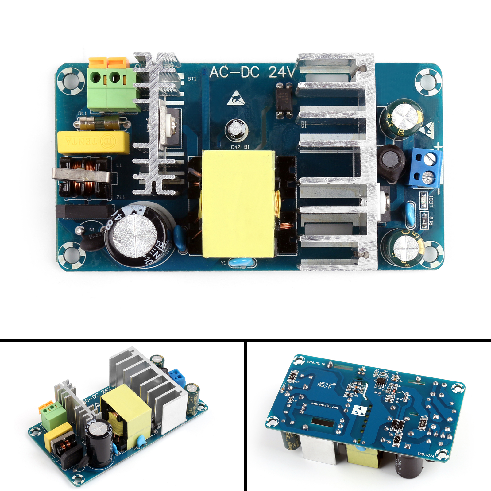 4pcs 4a To 6a 24v Switching Power Supply Board Ac Dc Module Circuit Smps Tablet Type 2 Size 106mm X 57mm 3 Model Xk 2412 24 4 Protection Overvoltage Overcurrent