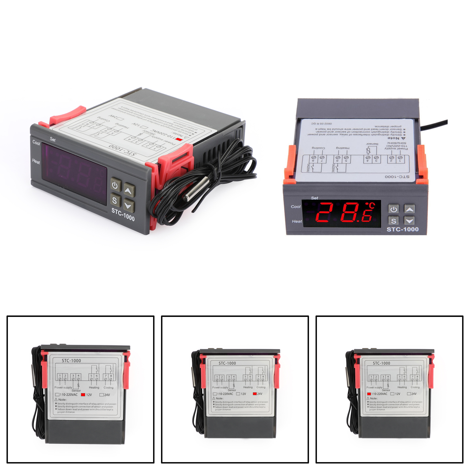 NEW 12V//24V//220V STC-1000 Digital Temperature Controller Thermostat