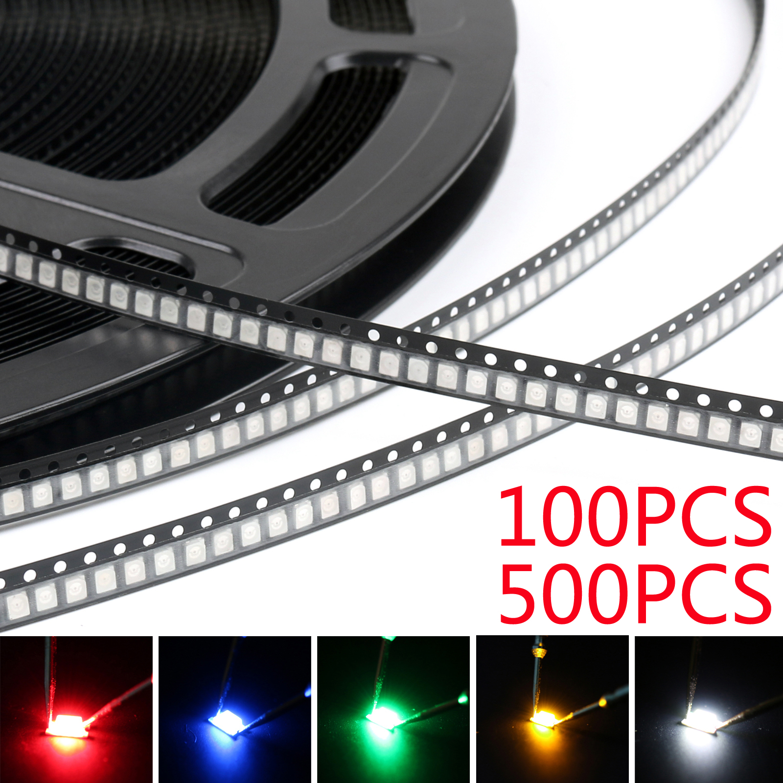 7colors 140pcs 1210 3528 SMD LED Diodes White Red Yellow Green Blue Mix Kits