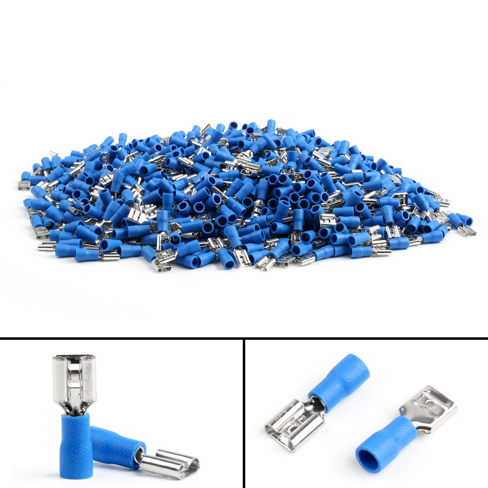 Insulated Female Spade Connector Crimp Terminal 22 16awg