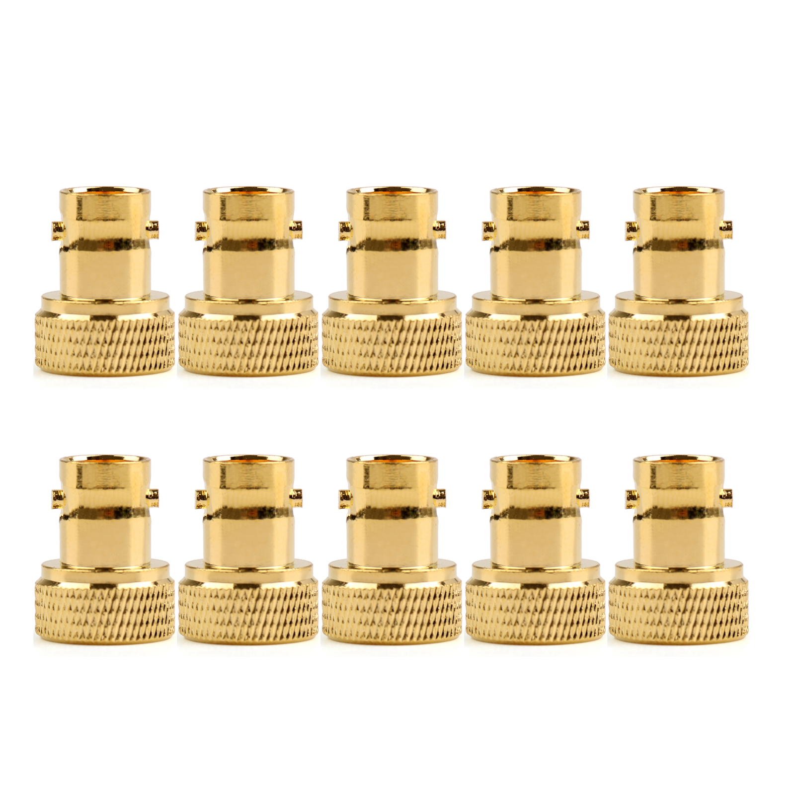 Details about 10Pc Adapter BNC Female Jack To SMA Male Plug RF Connector Gold Plating F/M