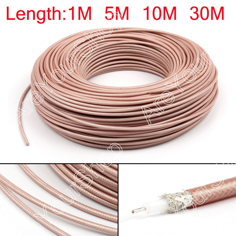 Coaxial Cable Rg 142 : Rg rf coaxial cable connector ohm m coax