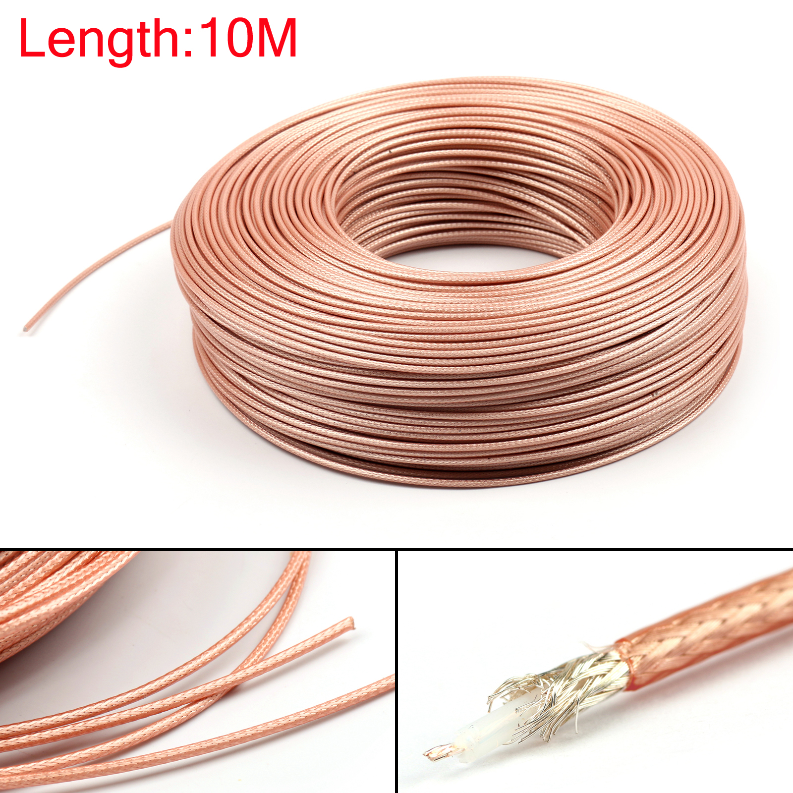 Details about 10m RG179 RF Coaxial Cable Connector 75ohm M17/94 RG-179 Coax Pigtail 32ft US