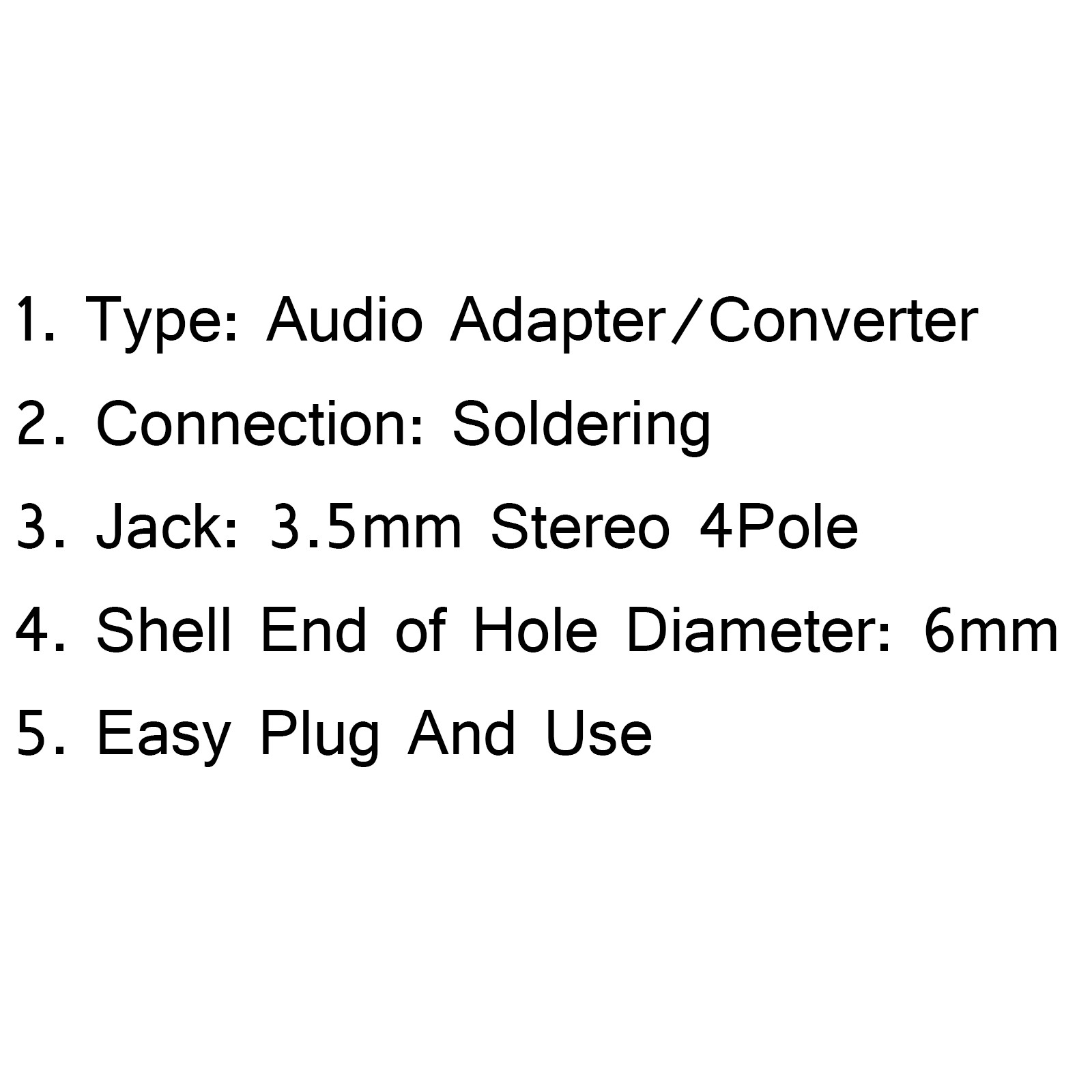 3 5mm stereo 4pole male jack plug audio connector solder for headphone budweiser