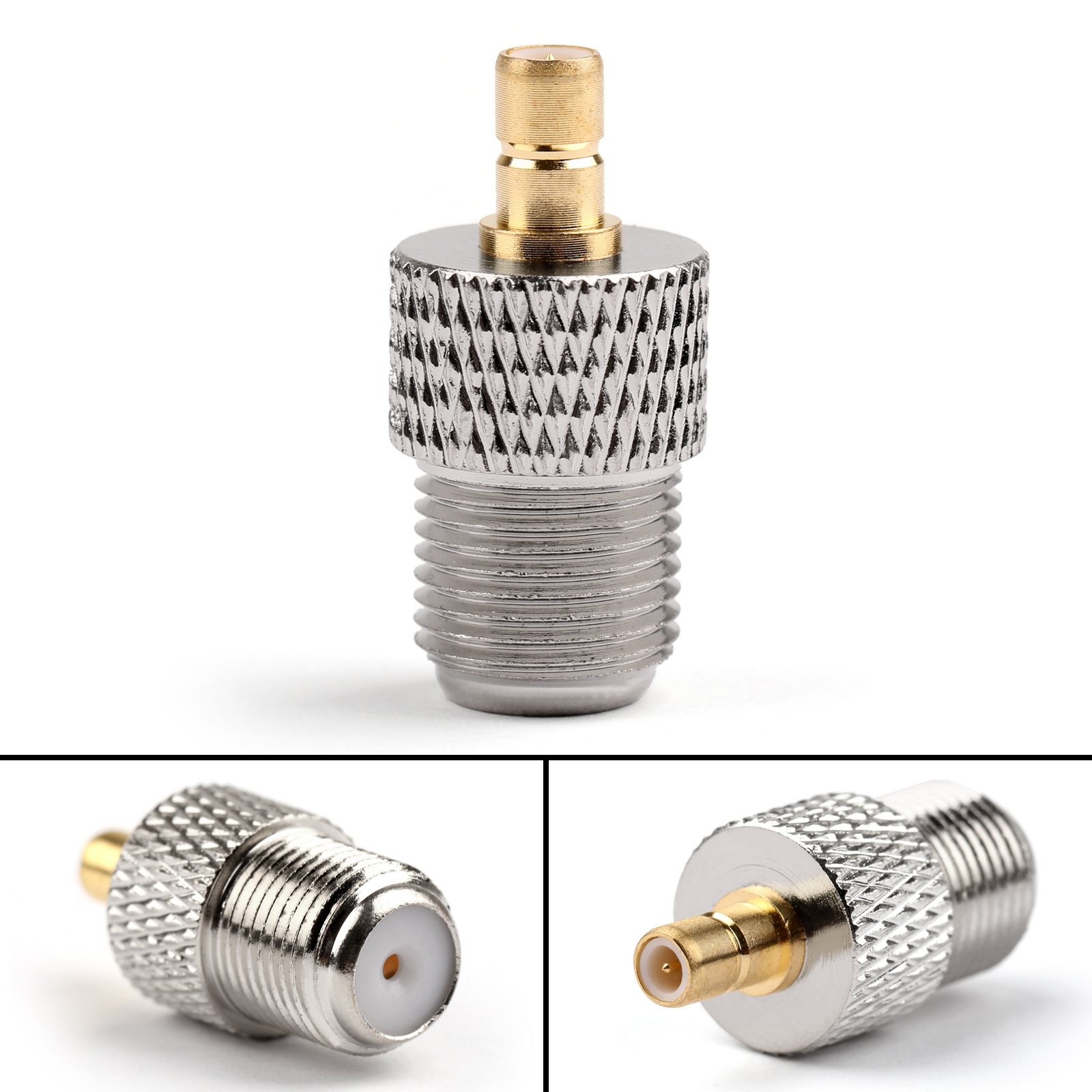 1Pc SMB Plug Male To F Jack Female Straight Coaxial Adapter Coupler ...
