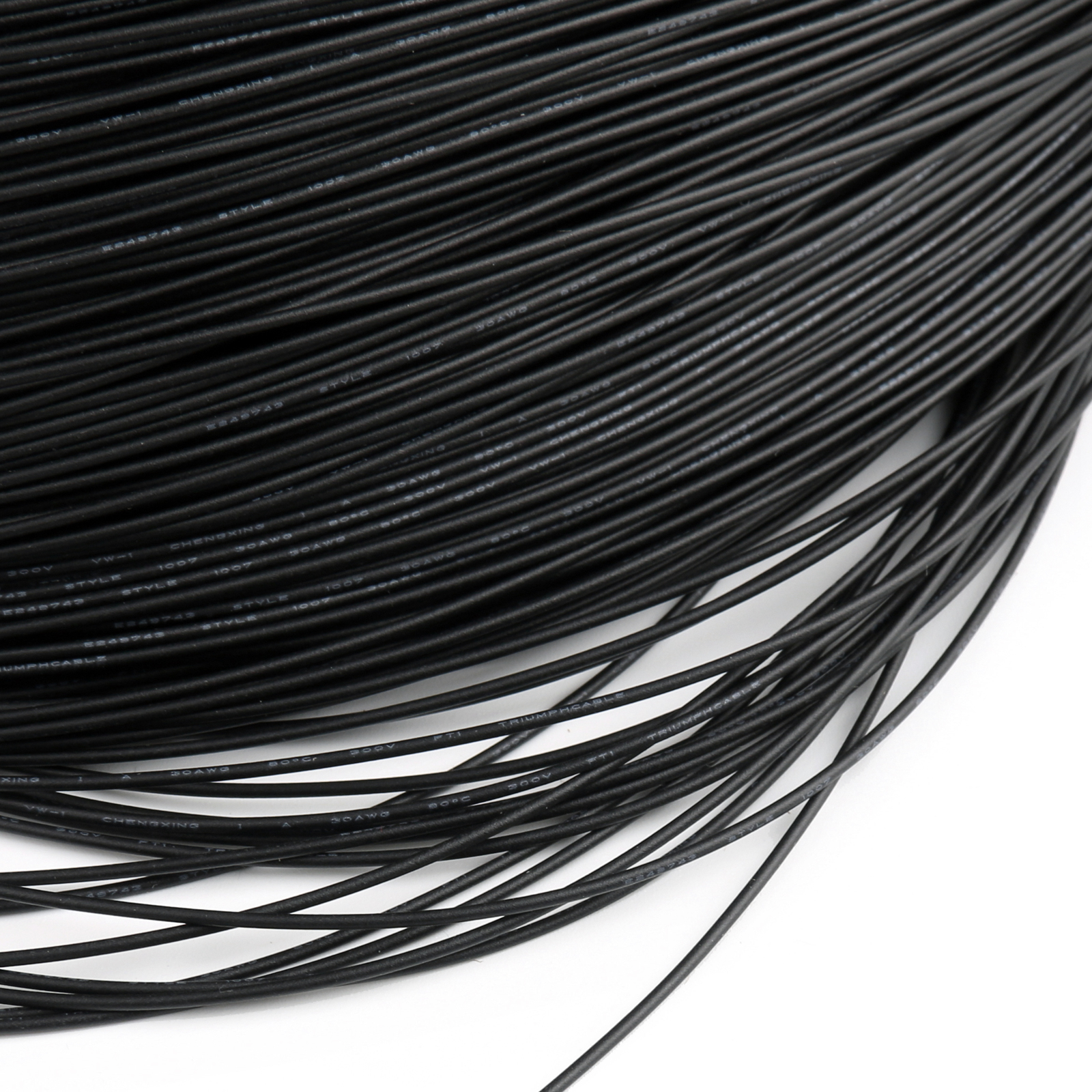 10M Black Flexible Stranded UL1007 30AWG Electronic Wire PVC Cable ...