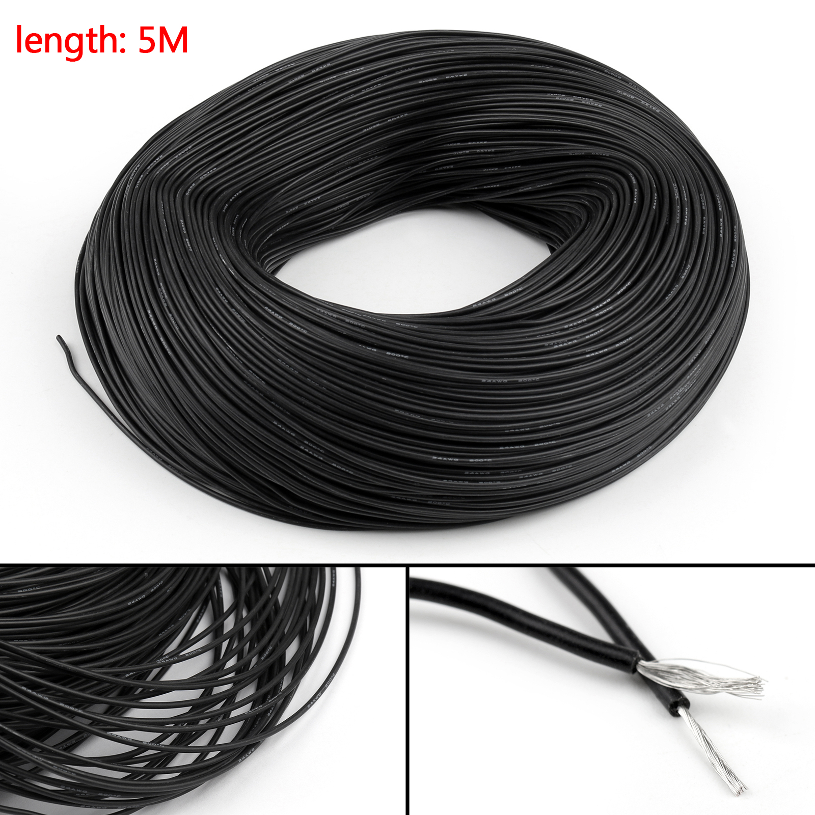 5m flexible stranded silicone rubber wire cable 24awg gauge od 15 type flexible silicone cable 2 conductor strand stranded 3 wire gauge 24awg 4 conductor nomm 4008ts 5 outer dia od 15mm greentooth Image collections