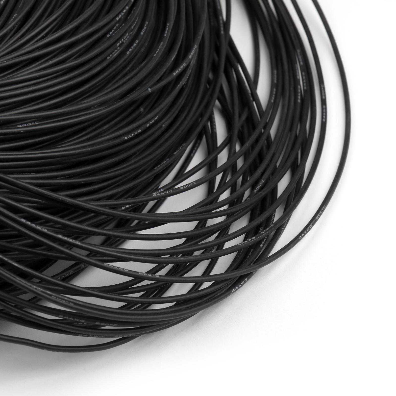 5m Flexible Stranded Silicone Rubber Wire Cable 24awg Gauge Od 15mm Net American 5 Type 2 Conductor Strand 3 4 No Mm 40 08ts Outer Dia