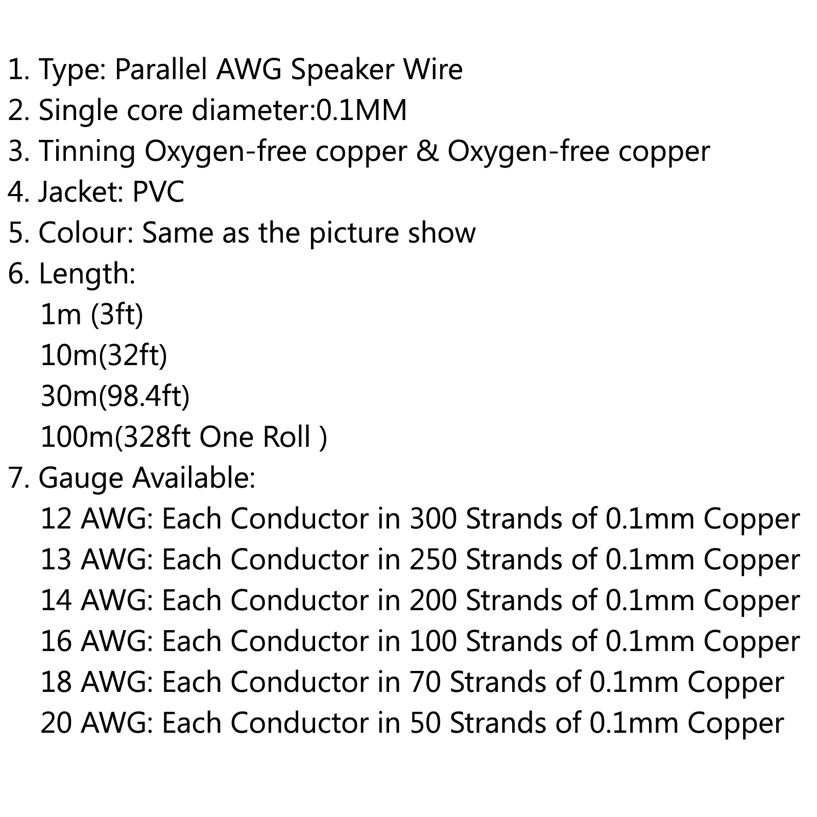 Car home audio speaker wire cable ofc gold silver 12 13 14 16 18 20 shape same as the picture show 1 type parallel awg speaker wire 2 single core diameter01mm 3 tinning oxygen free copper oxygen free copper keyboard keysfo Images