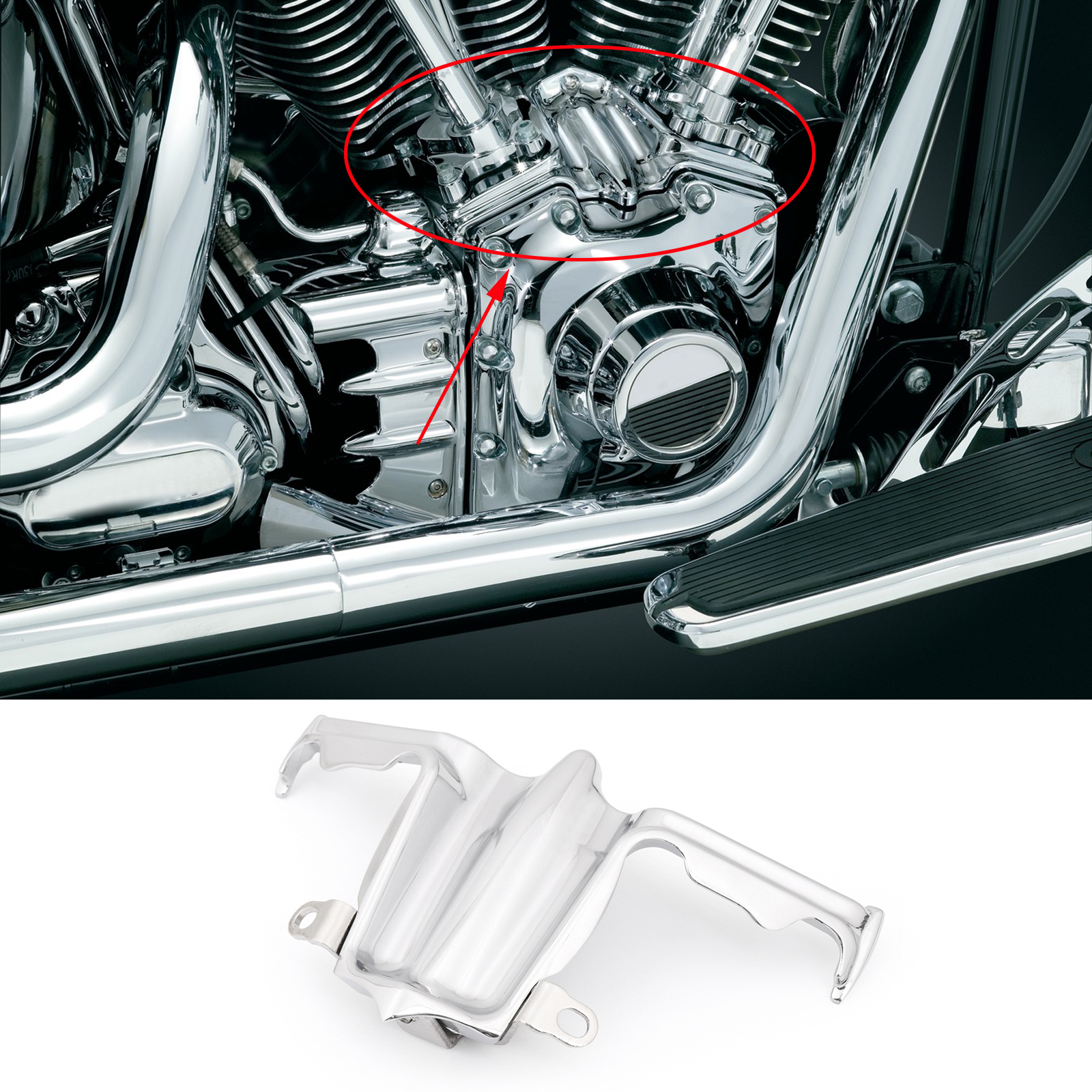 Lifter Block Accent Cover for Harley Twin Cam 02-16 Road Glide Chrome Tappet