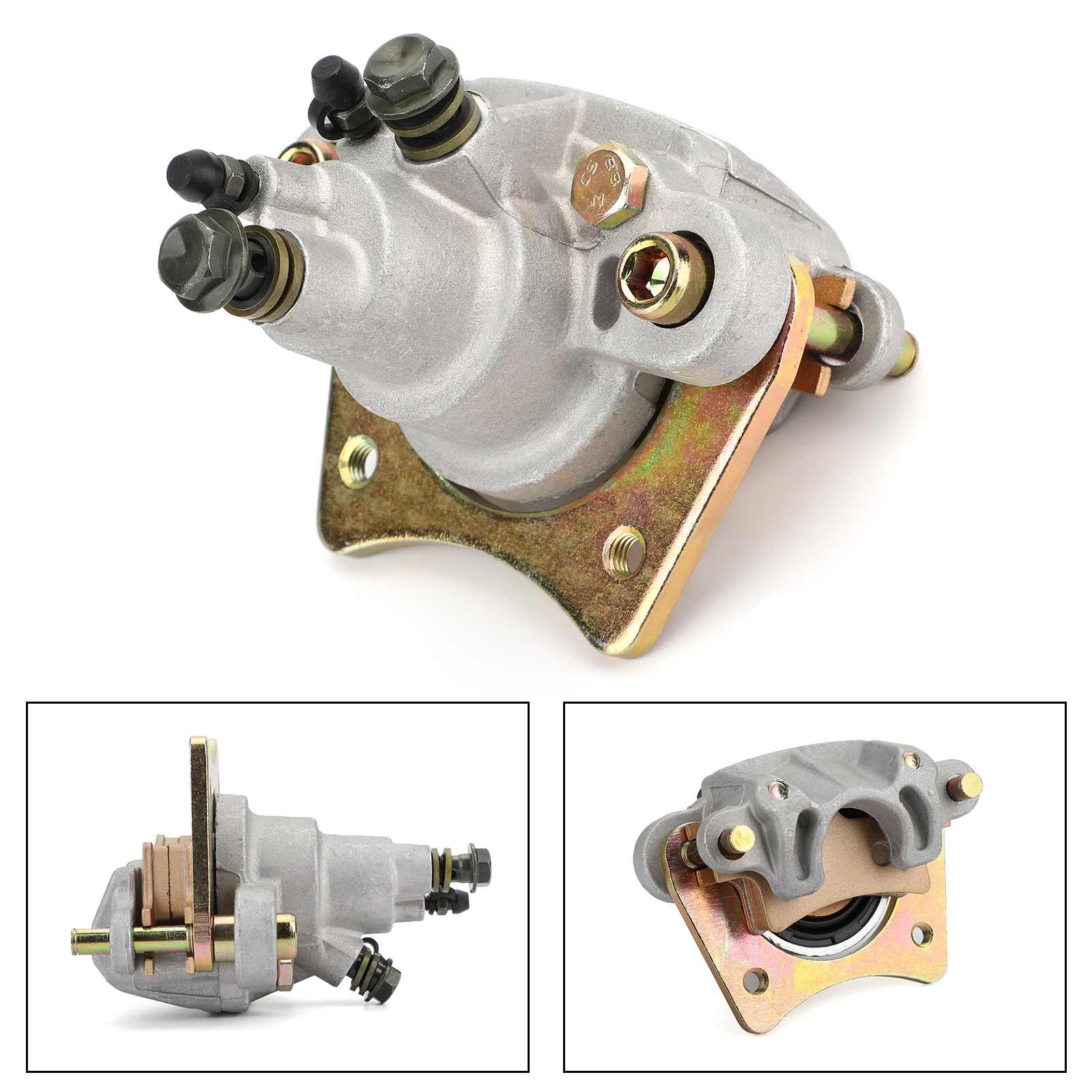 Rear Brake Caliper for Polaris Sportsman Forest 800 6x6 2012-2014 with Pads