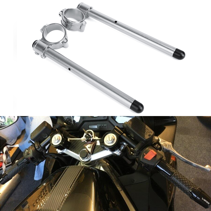 NEW GOLD MOTORCYCLE CNC MACHINED HANDLEBAR CLIP-ON BAR KIT FOR YAMAHA 50MM FORKS