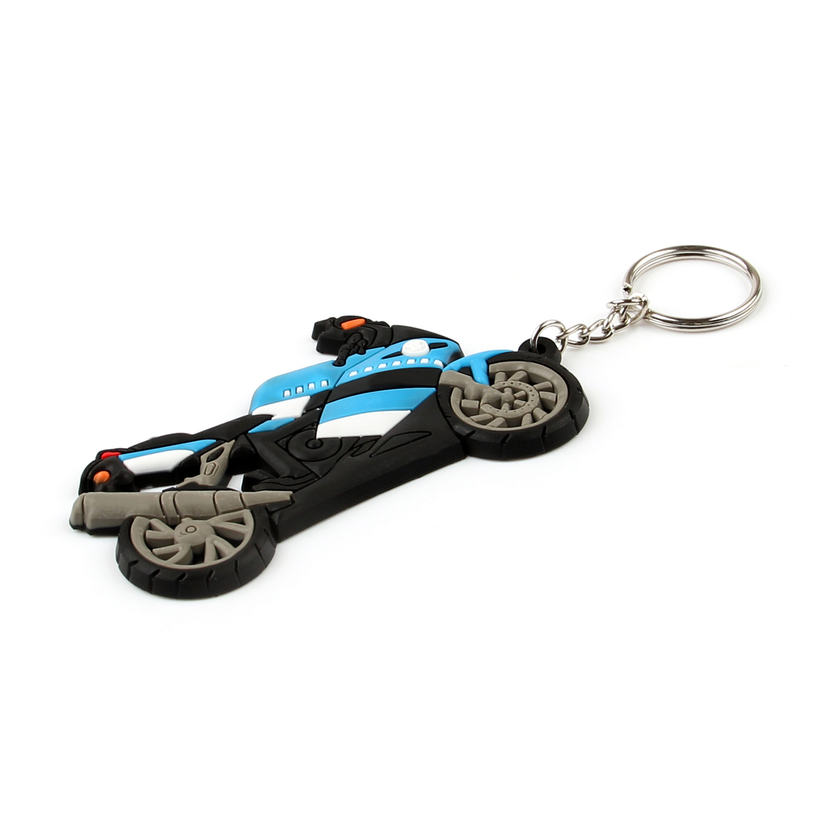 Rubber Motorcycle Model Cool Keyring Keychain Key Chain