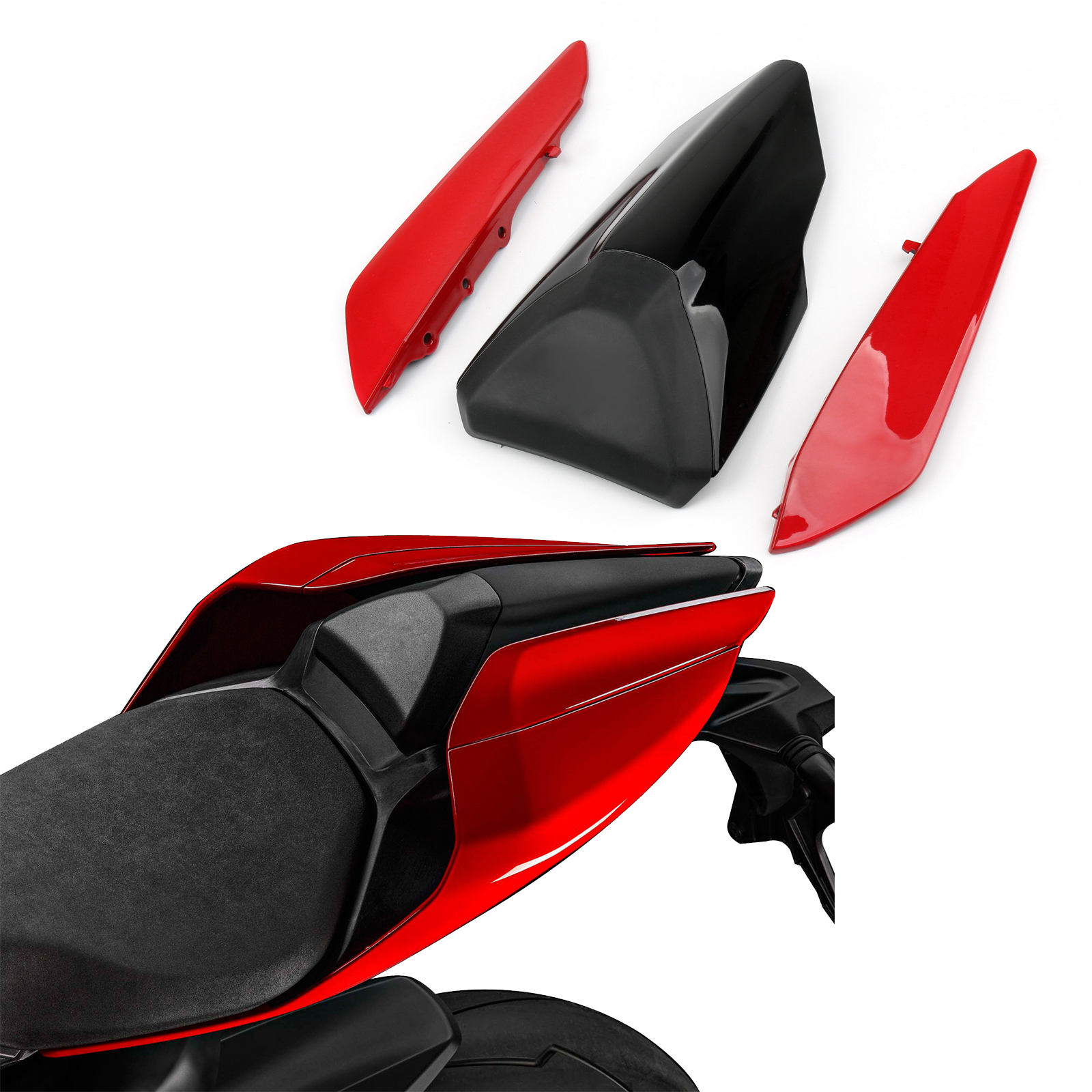 for Ducati 796 795 M1100 Rear Tail Solo Seat Pillion Cover Cowling Fairing