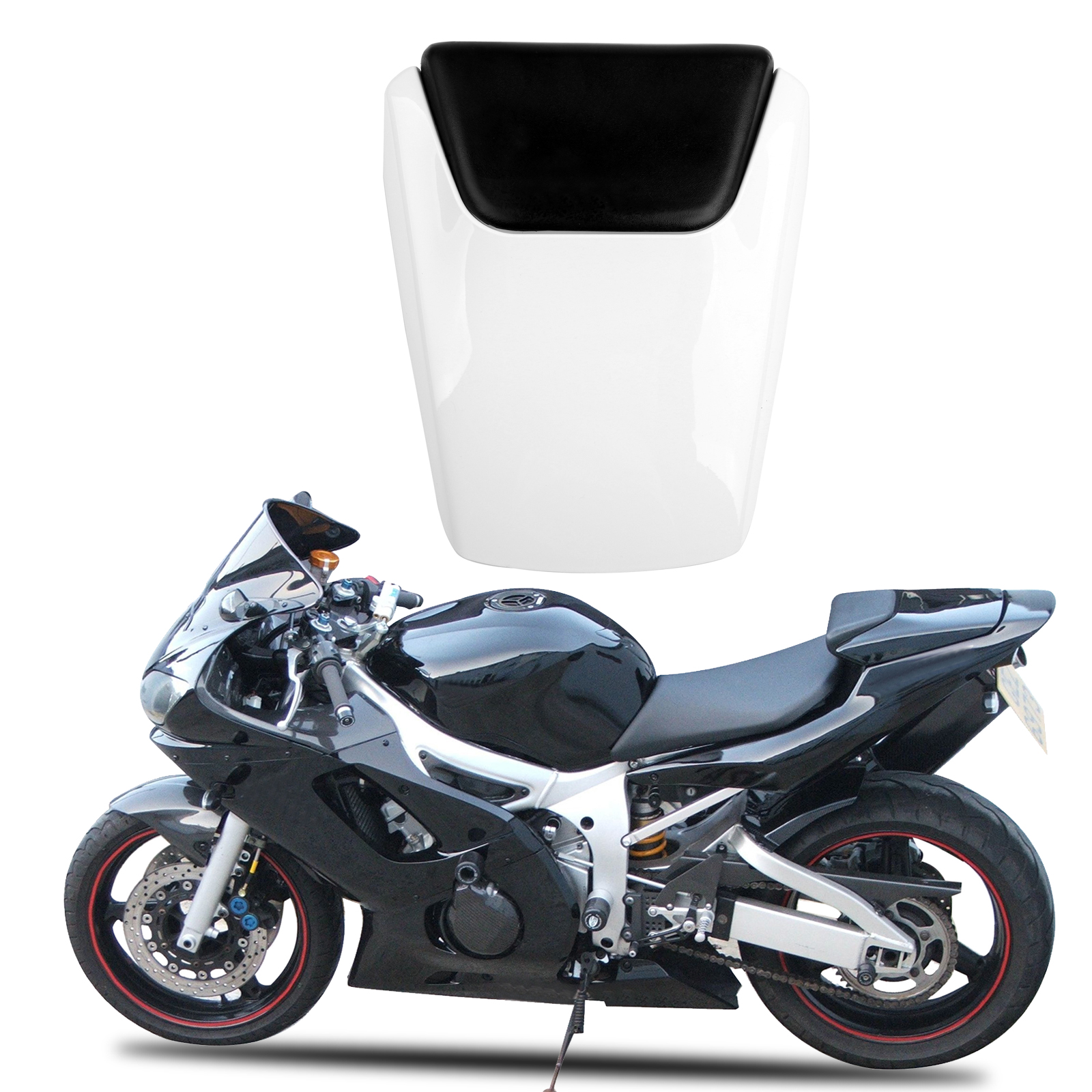 Rear Pillion Seat Cowl Fairing Cover For Yamaha Yzf R6 1998 2002 1999 White Ebay